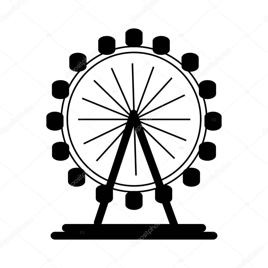 London Eye Wheel Stock Vector