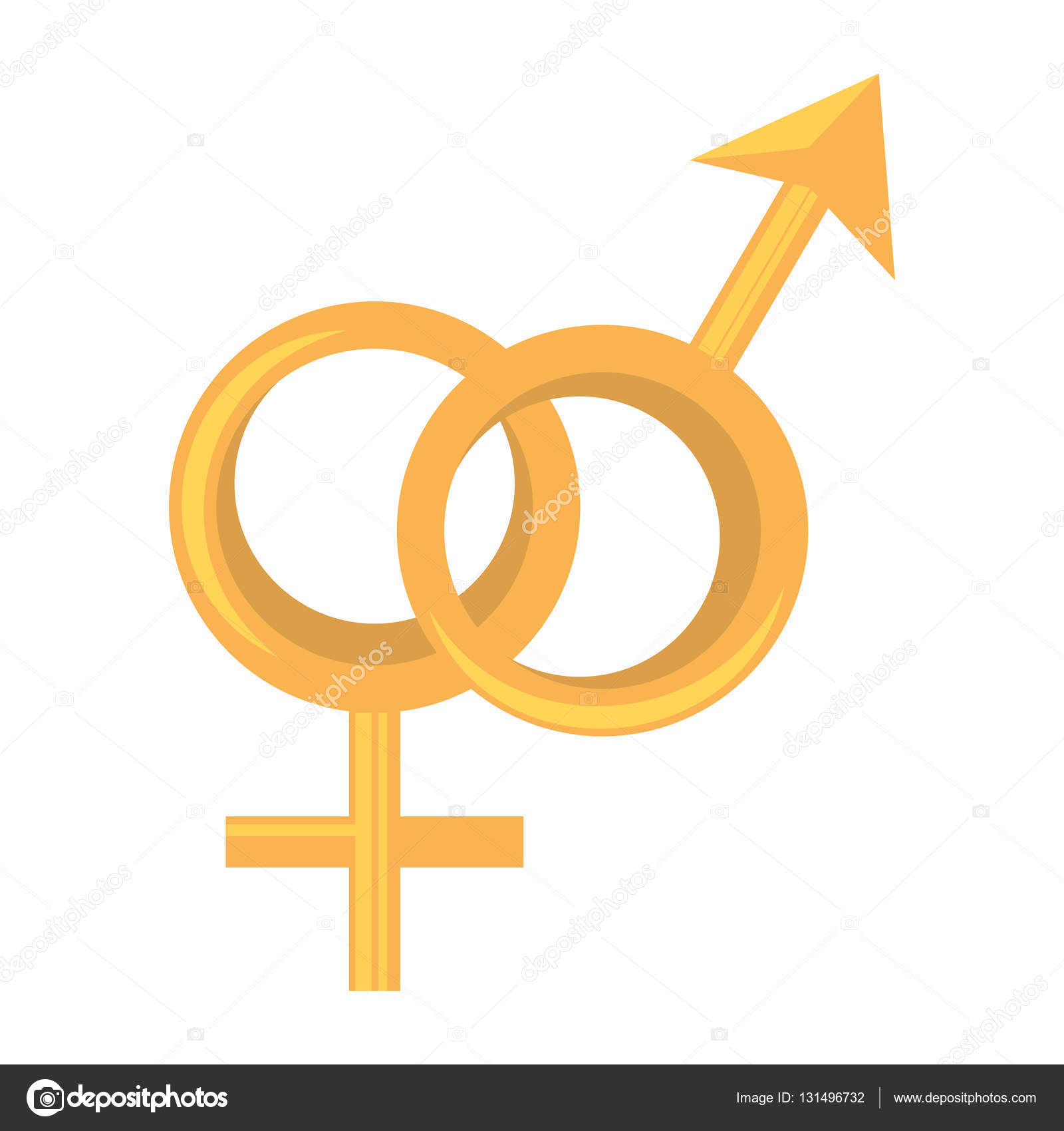 Male And Female Union Symbols Stock Vector Djv 131496732