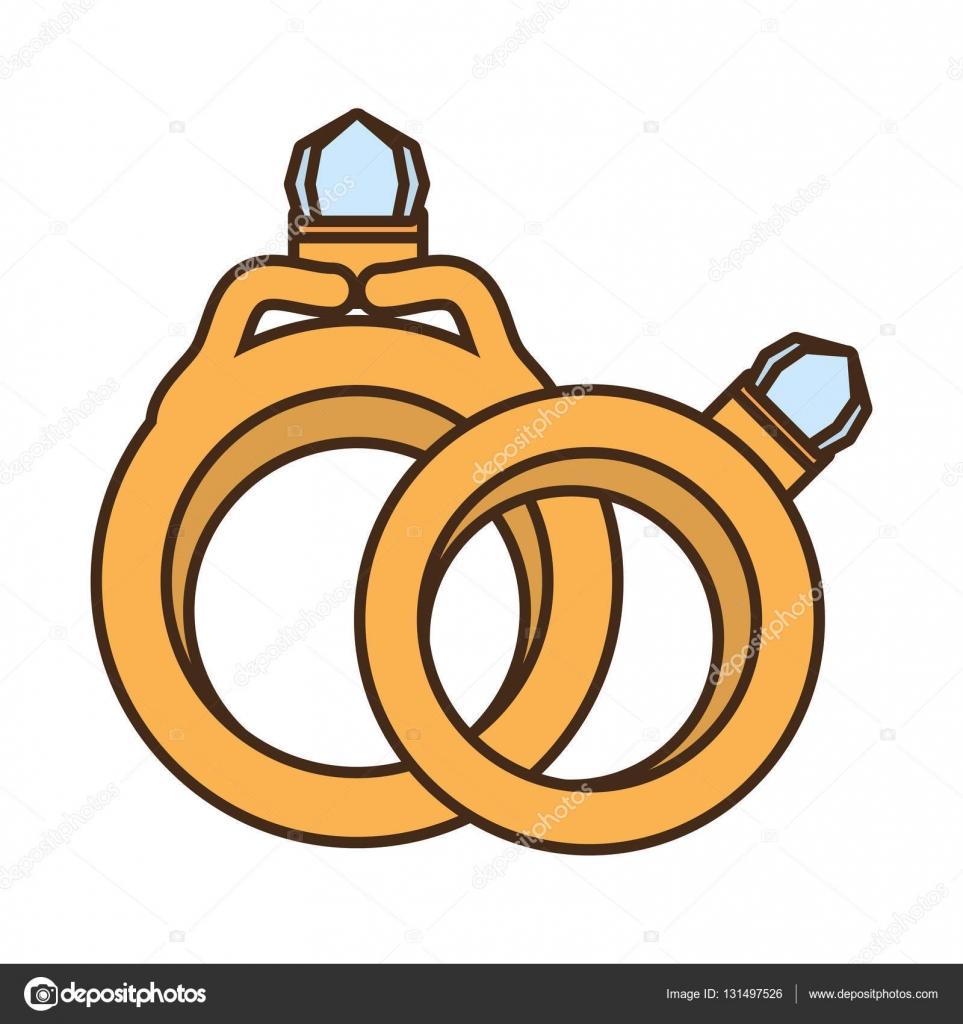 Zwei Ringe Hochzeit Gold Schmuck Design Stockvektor C Djv 131497526
