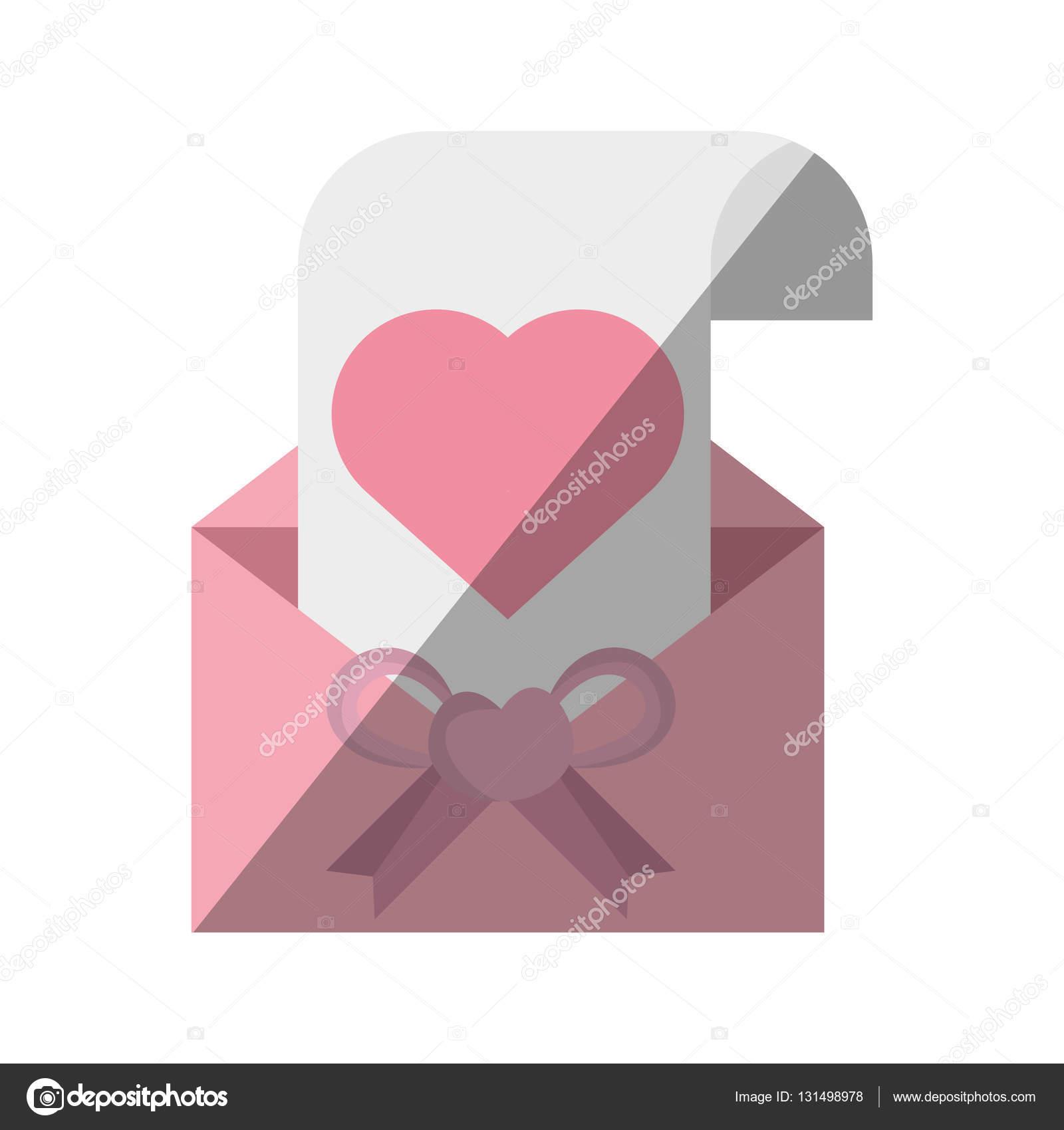 Schöne Karte Einladung Hochzeit Papier Herz Umschlag Bogen U2014 Stockvektor