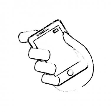 smartphone mobile technology isolated icon