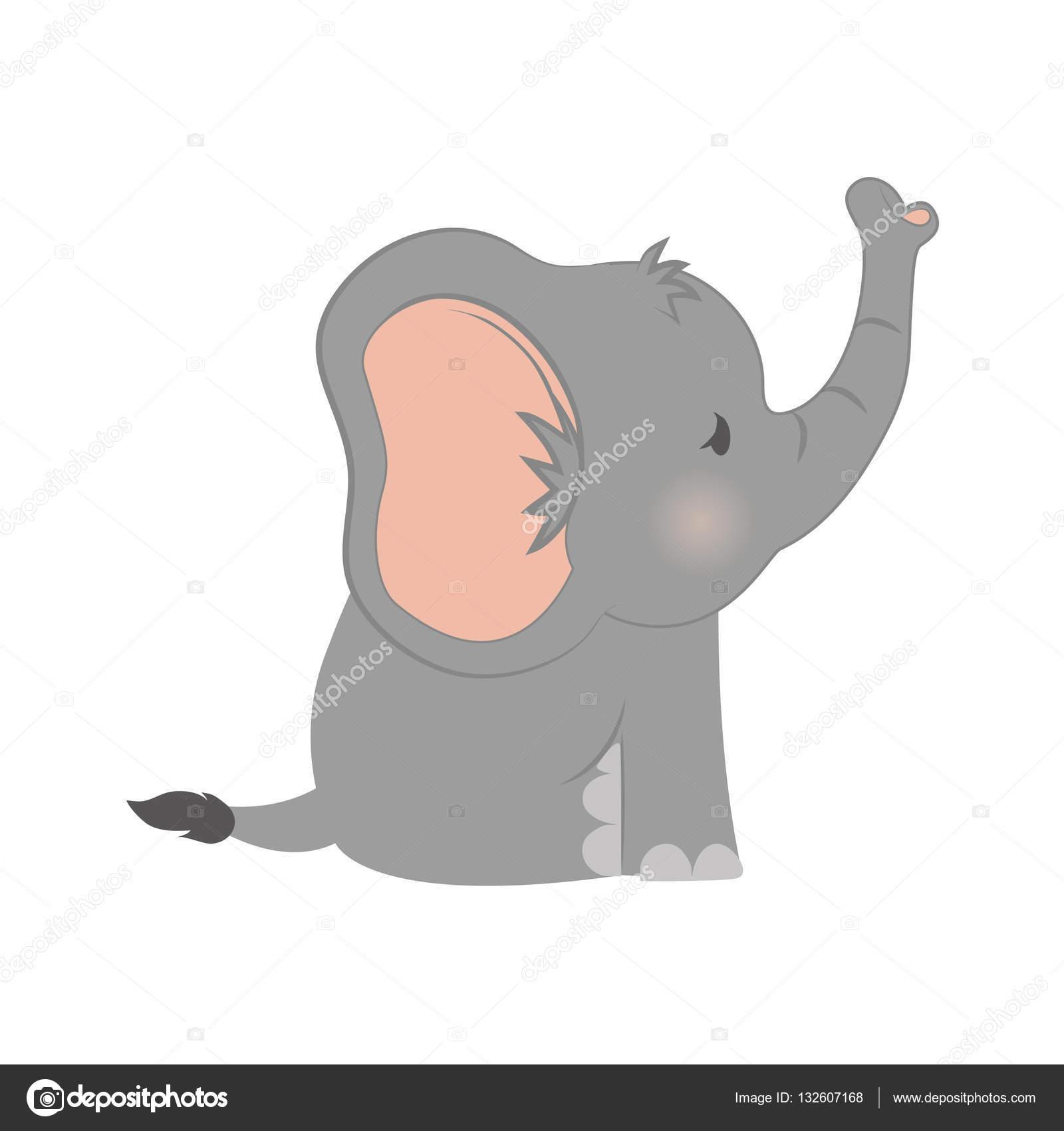 Dibujo animado del elefante del beb vector de stock - Fotos de elefantes bebes ...