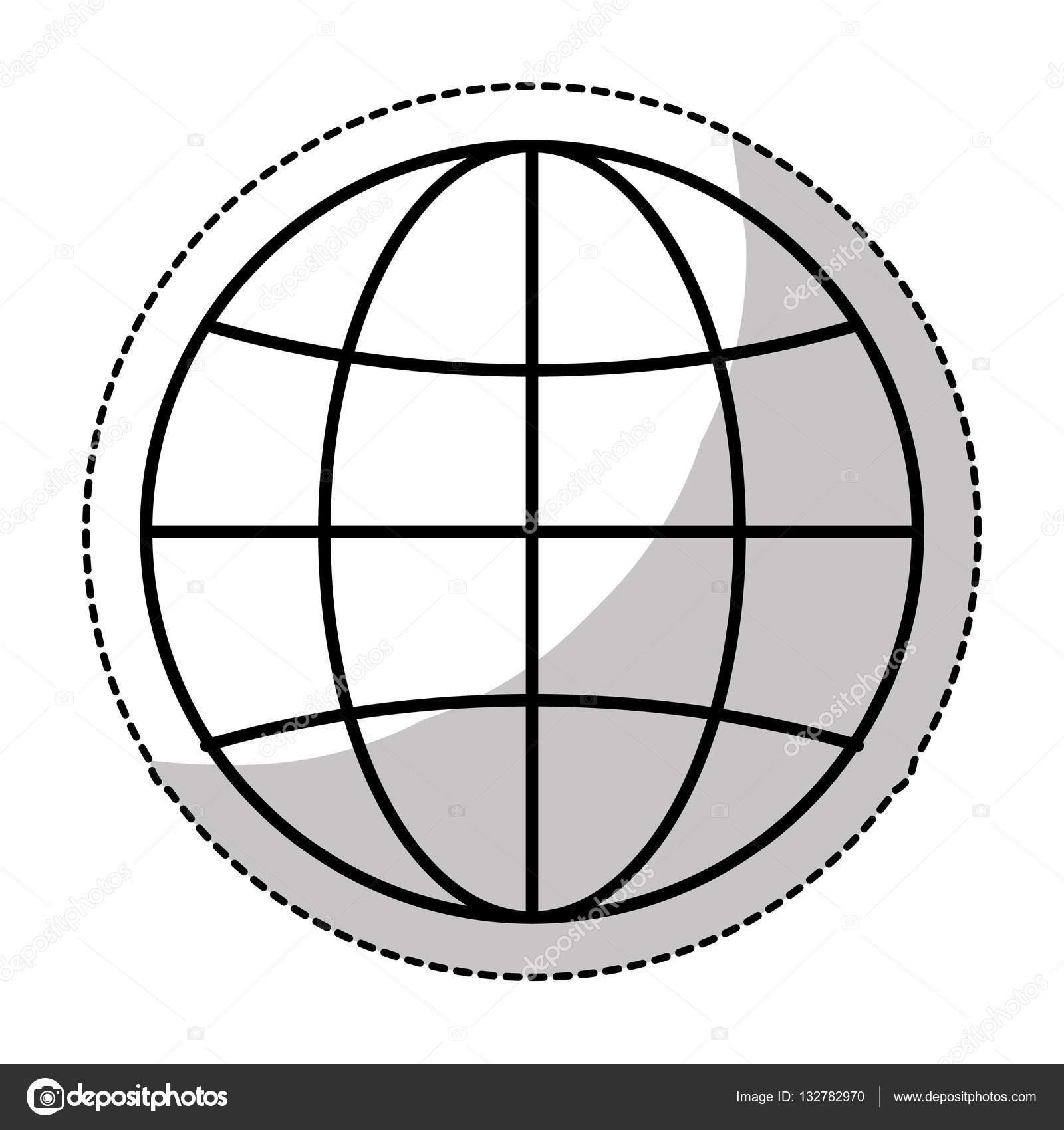 earth globe diagram icon image — Stock Vector © djv #132782970