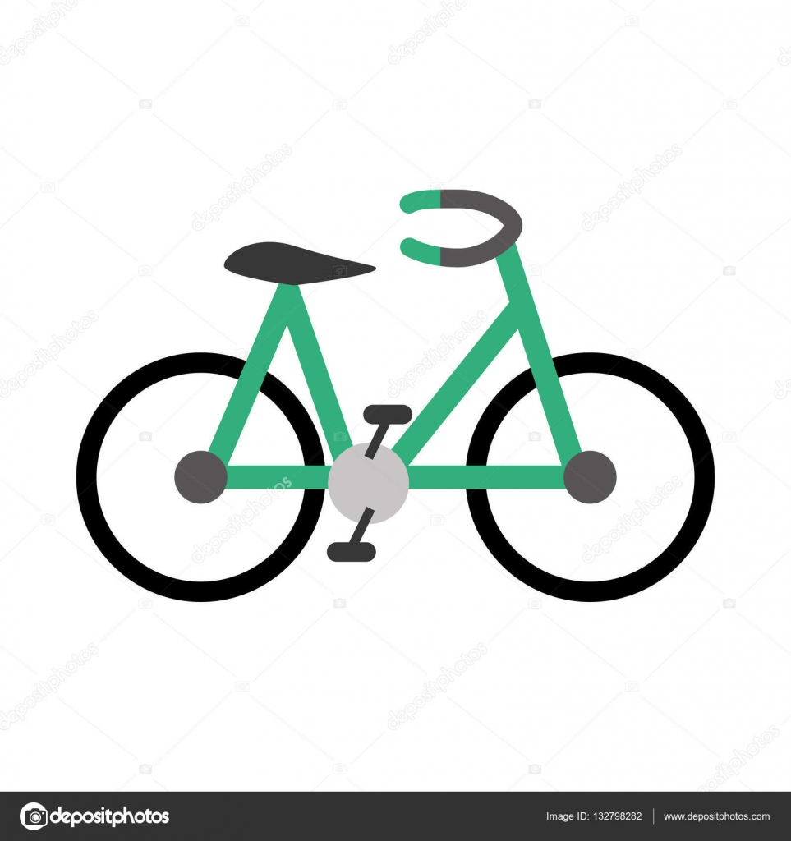 Bike O Bicicletta Icona Immagine Vettoriali Stock Djv 132798282