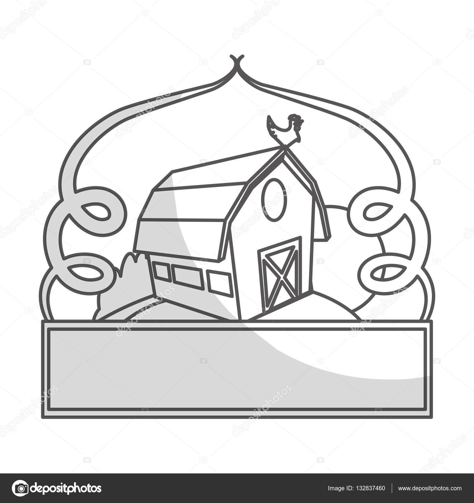 Farm Barn Icon Stock Vector