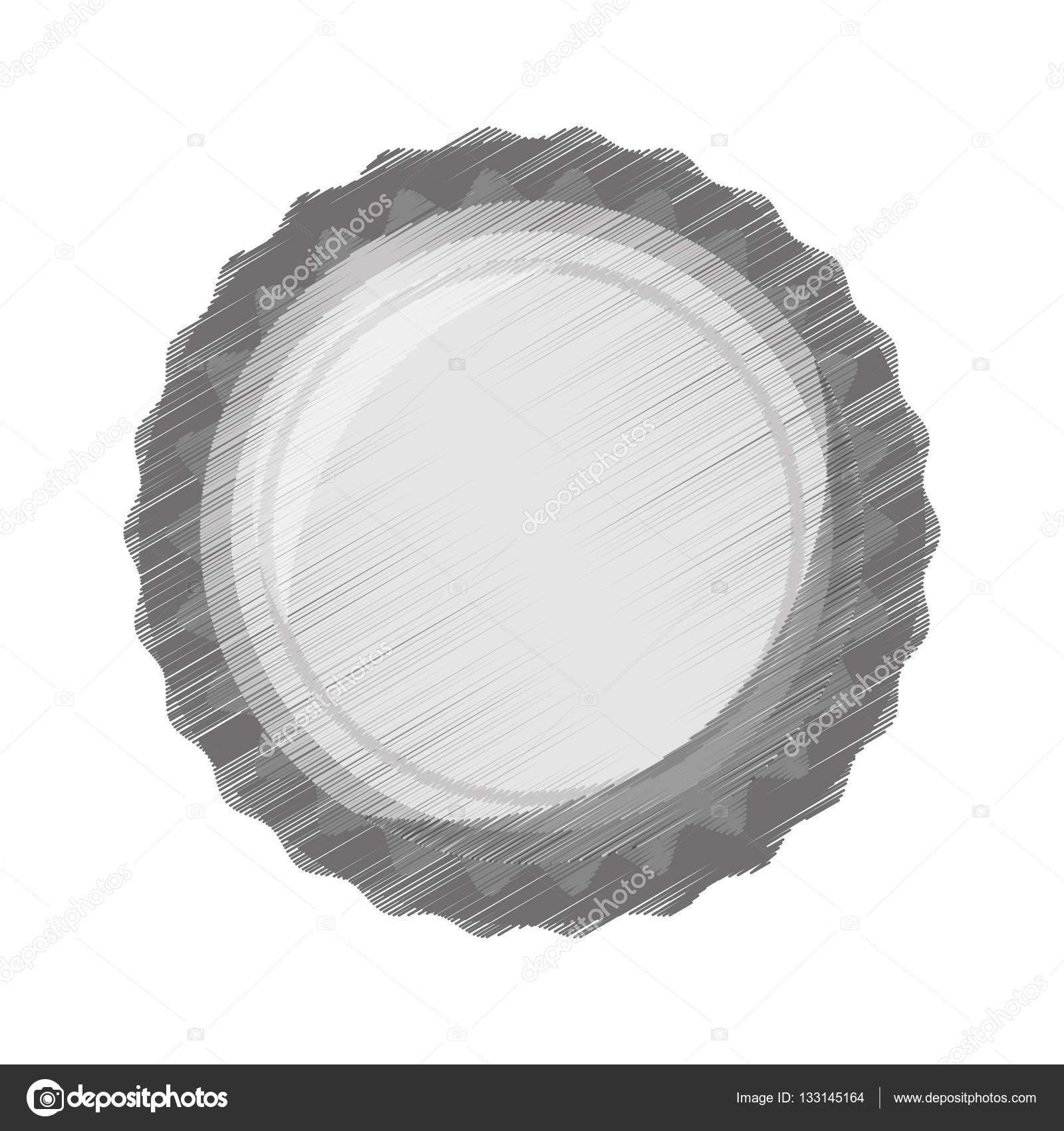 Icono De Tapa De Botella Dibujo Gris Archivo Imagenes Vectoriales