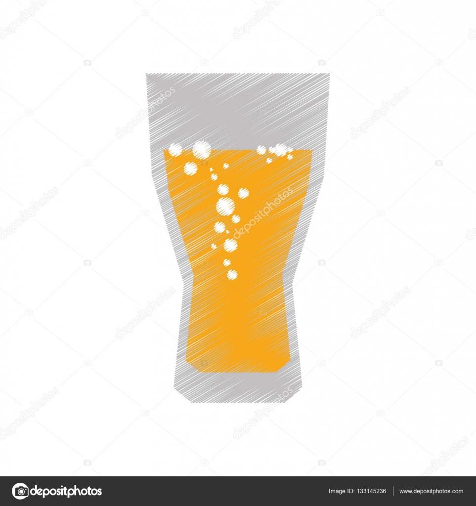 Dessin de coupe en verre couleur bulles de bi re image for Utiliser un coupe verre