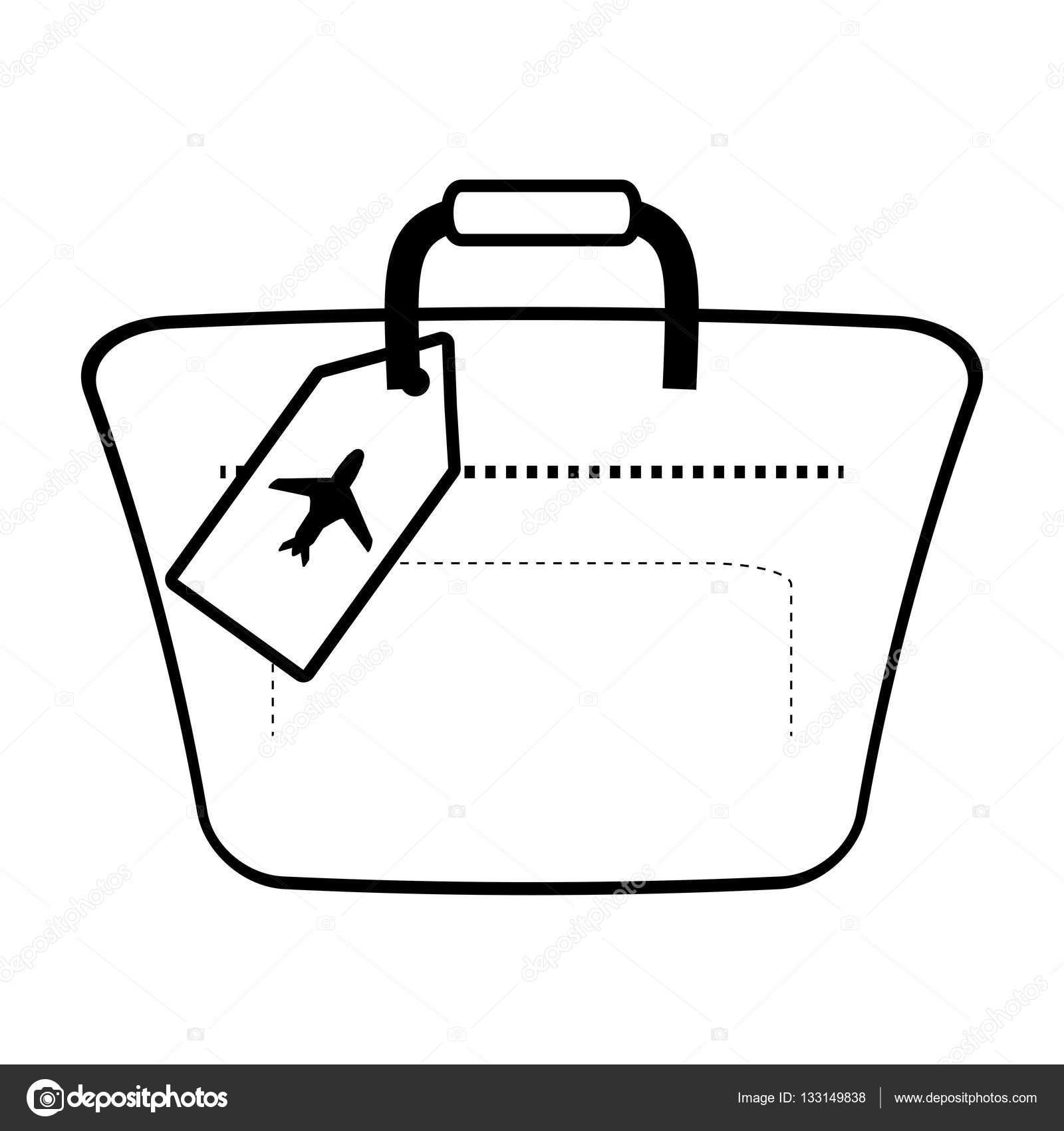Pictures Hand Luggage Outline Hand Luggage Travel Bag Tourist Stock Vector C Djv 133149838