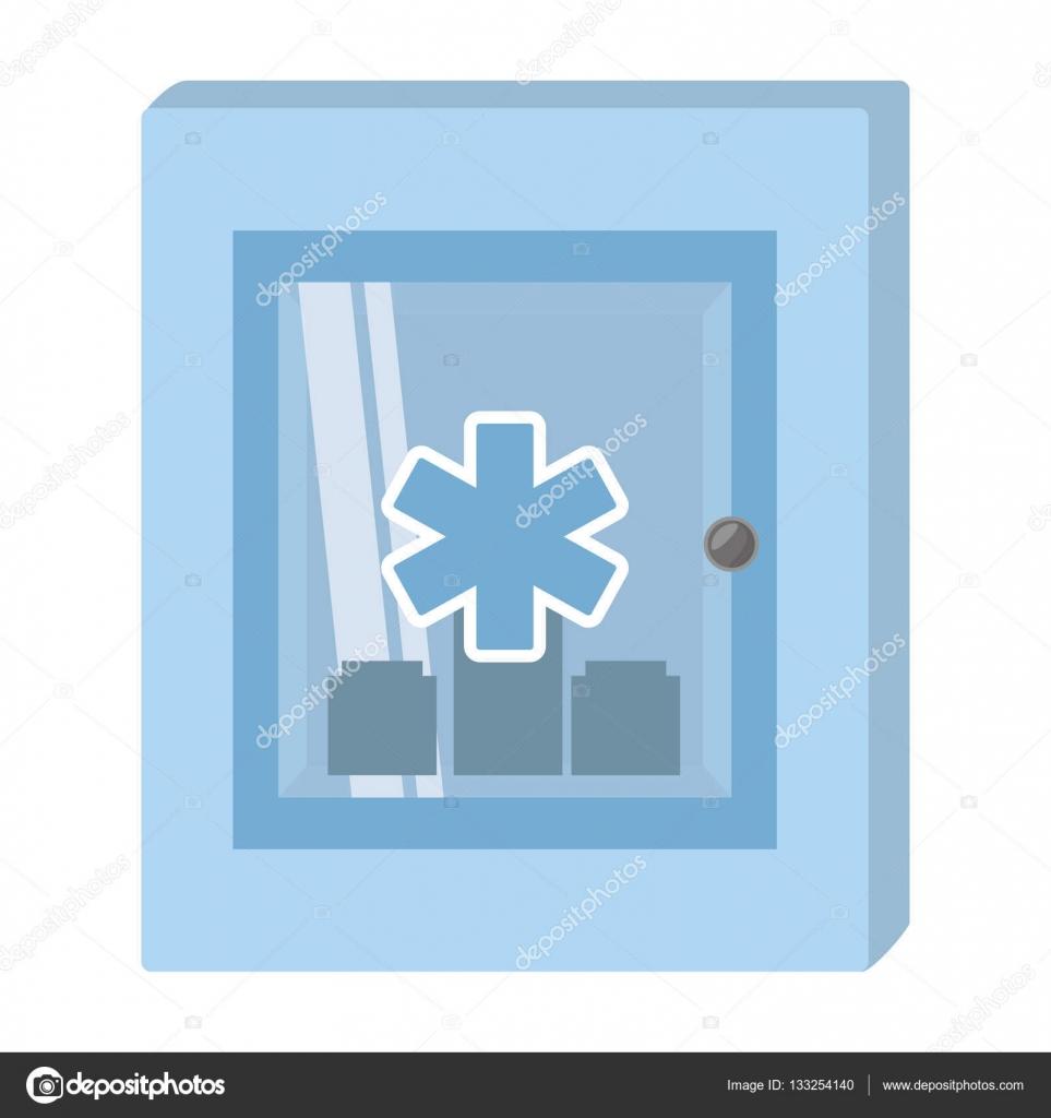 Armadietto Di Pronto Soccorso Simbolo Trasversale Medico