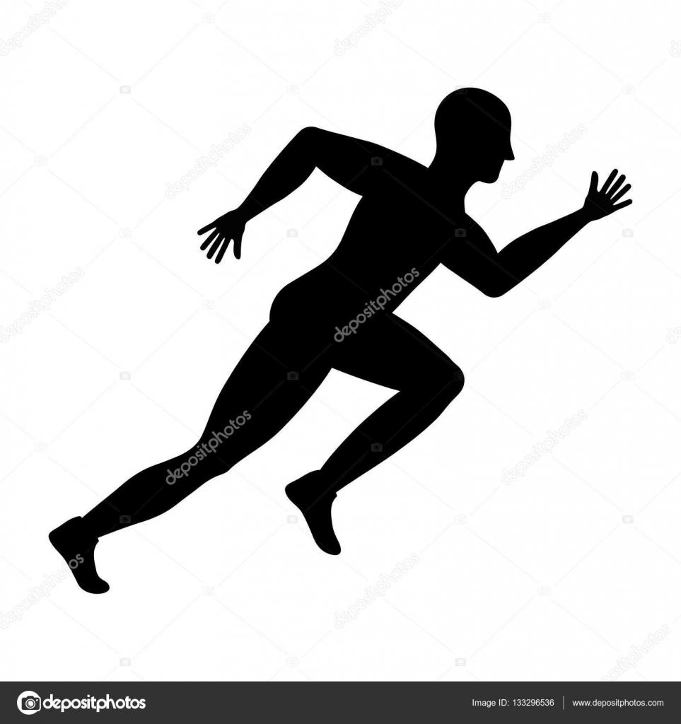 Fitness Koşan Adam Stok Vektör Djv 133296536