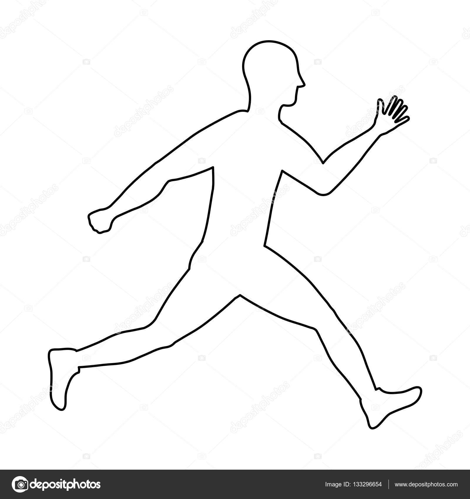 Fitness Koşan Adam Stok Vektör Djv 133296654
