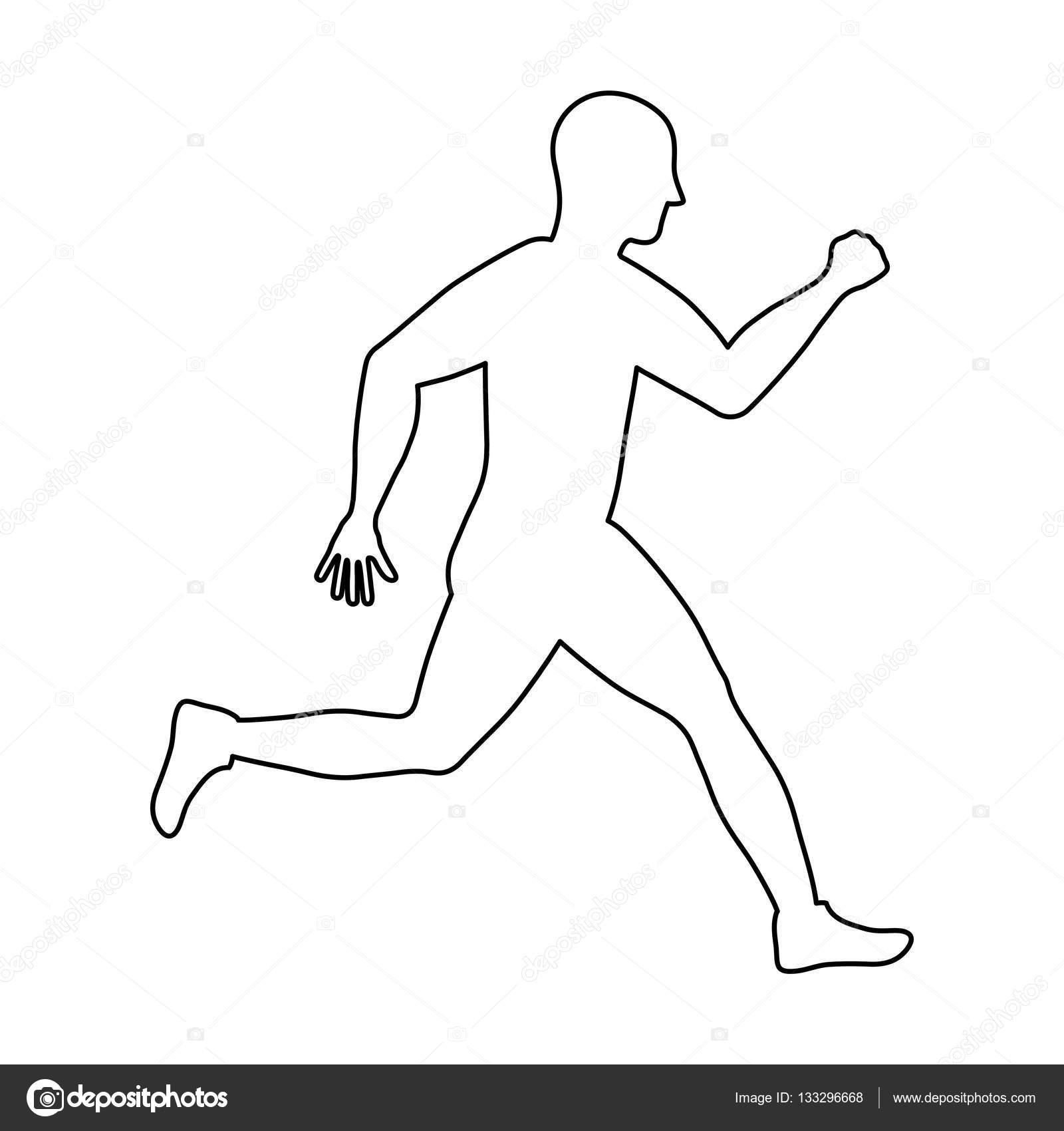Fitness Koşan Adam Stok Vektör Djv 133296668
