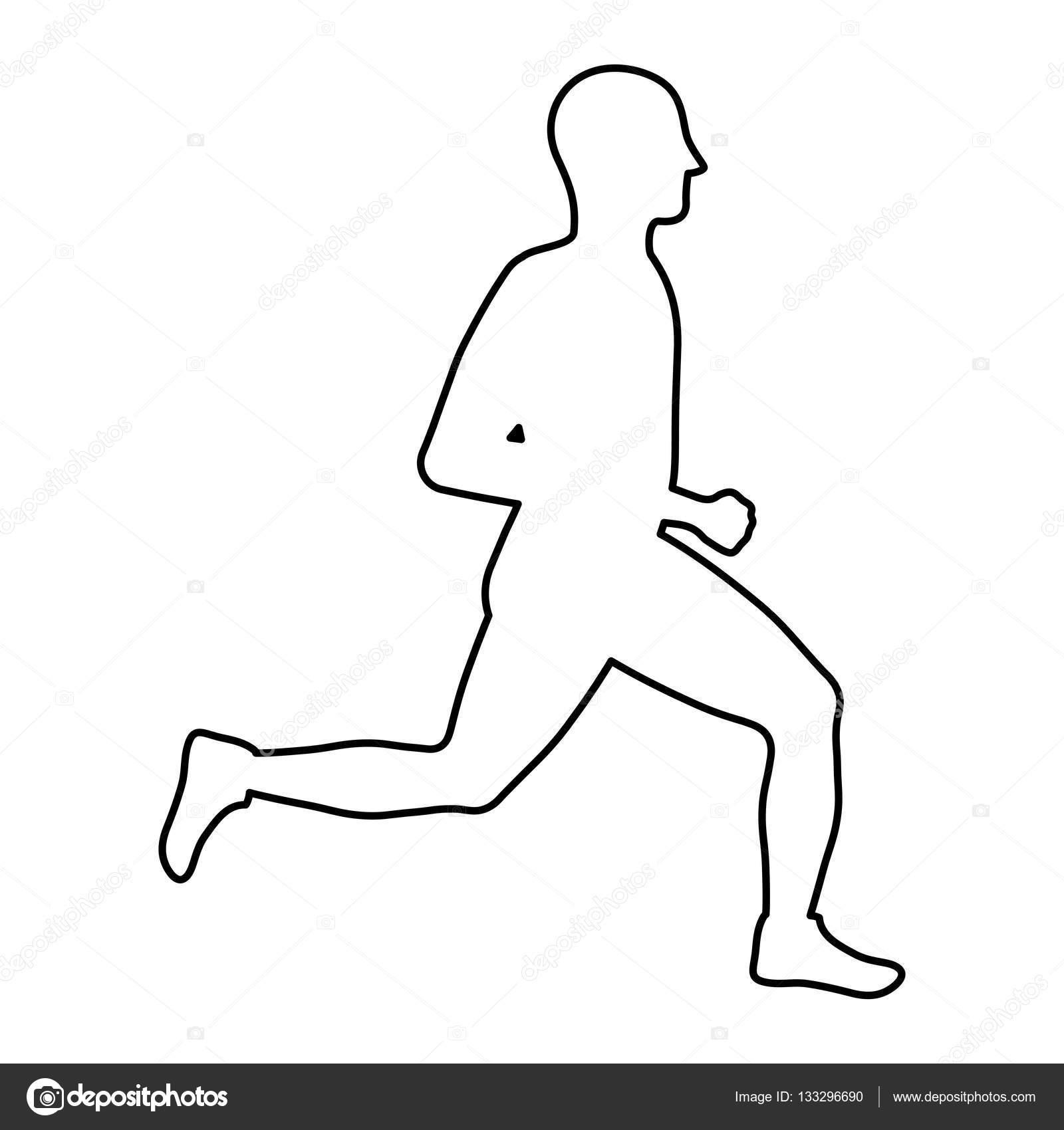 Fitness Koşan Adam Stok Vektör Djv 133296690