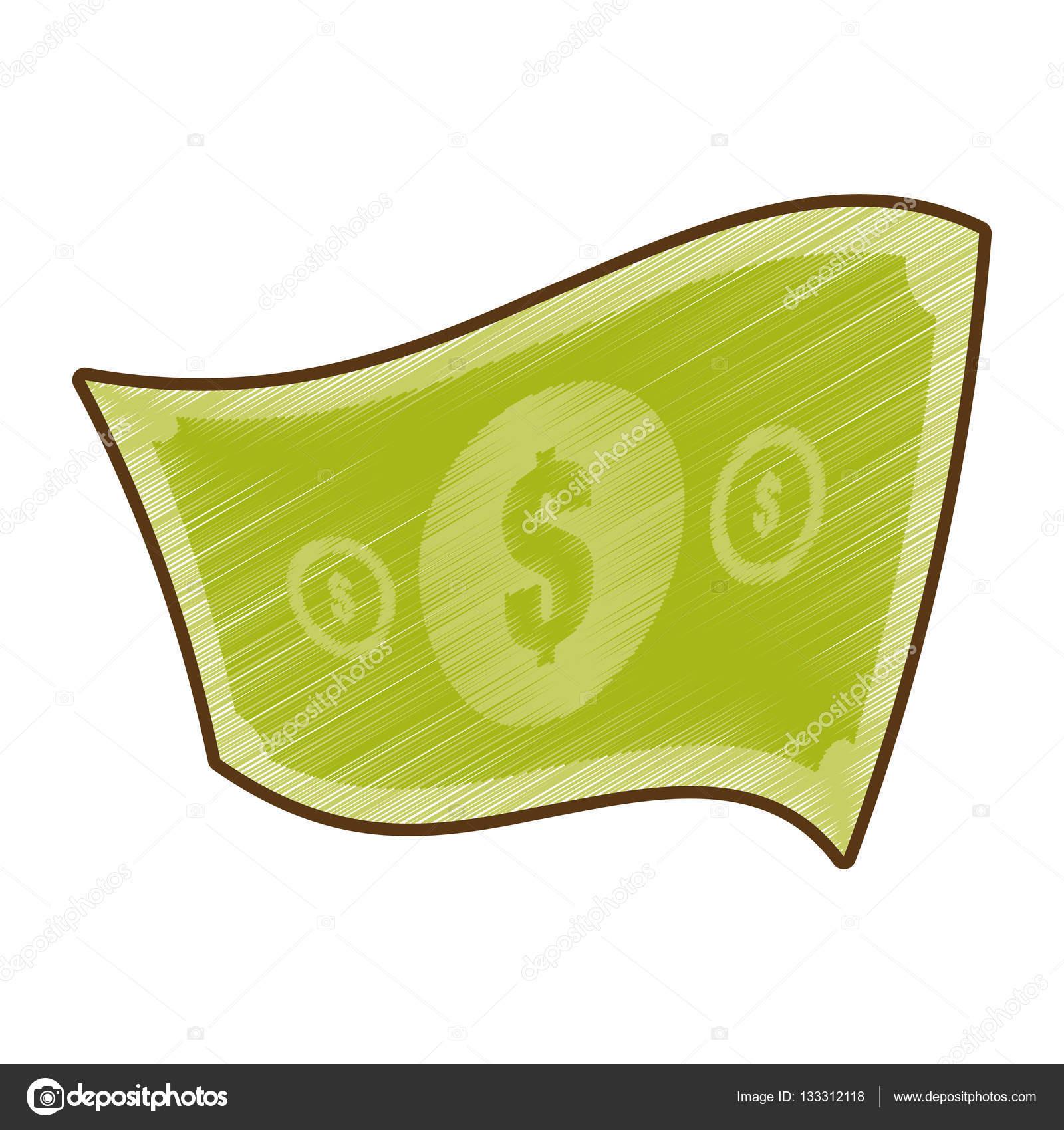 Amerikanische Dollar Geldschein Zeichnen Stockvektor Djv 133312118