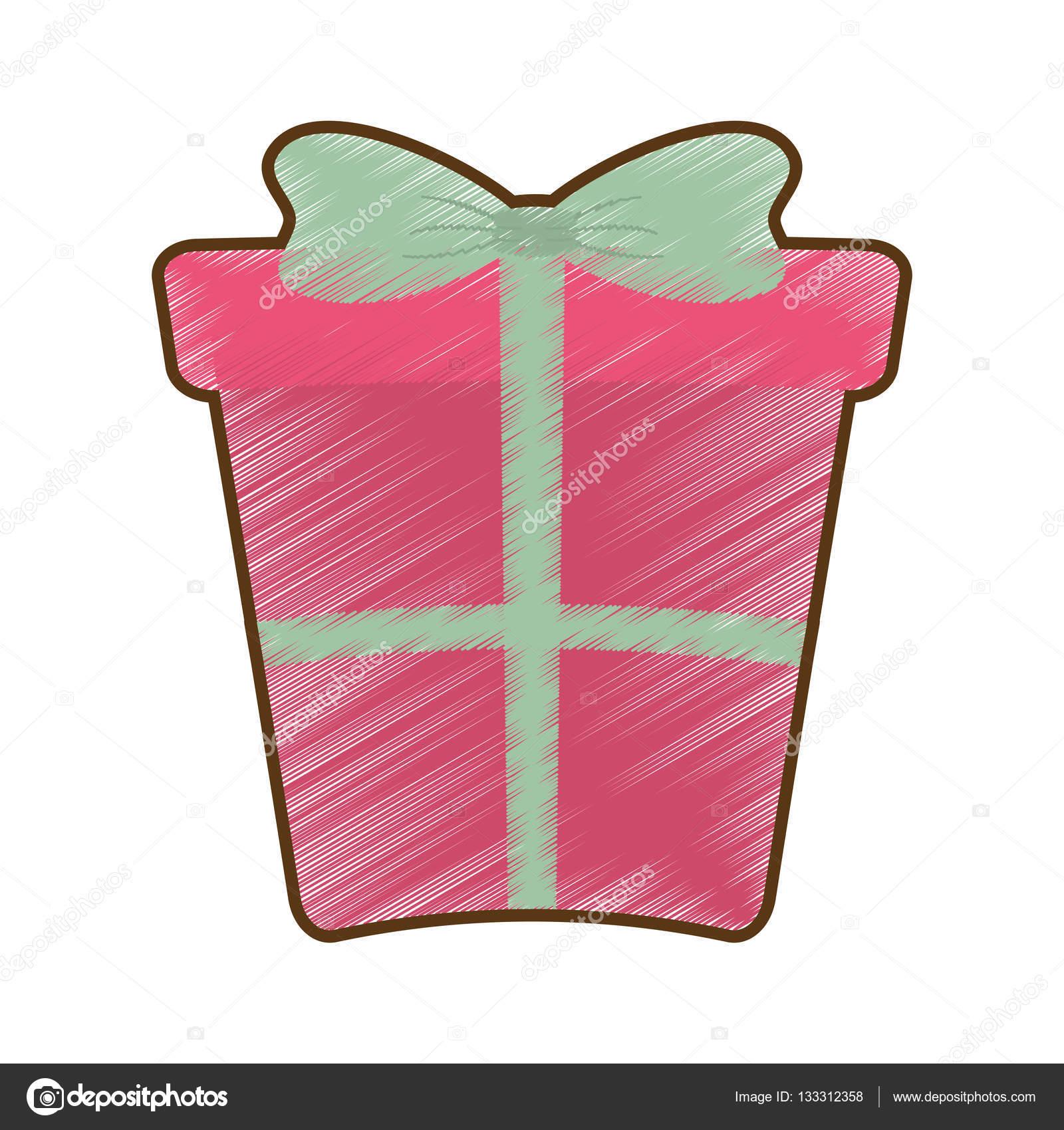 Dibujo de caja de regalo grande rosa con lazo archivo im genes vectoriales djv 133312358 - Lazos grandes para regalos ...