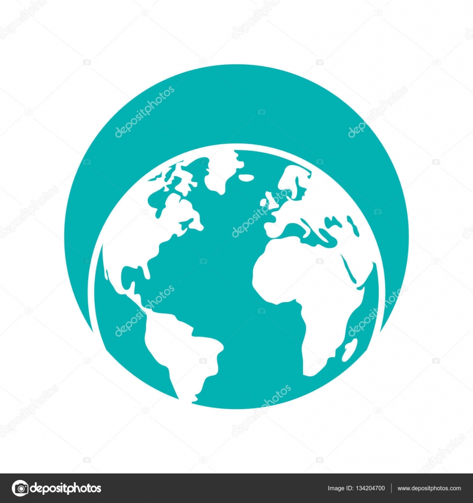 Globus Weltkugel Karte.Globus Weltkugel Erde Karte Stockvektor Djv 134204700