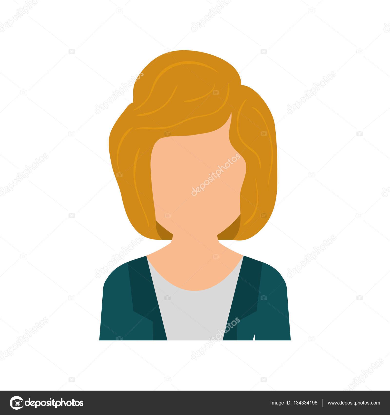 Profil Sans Visage Femme Image Vectorielle Djv 134334196