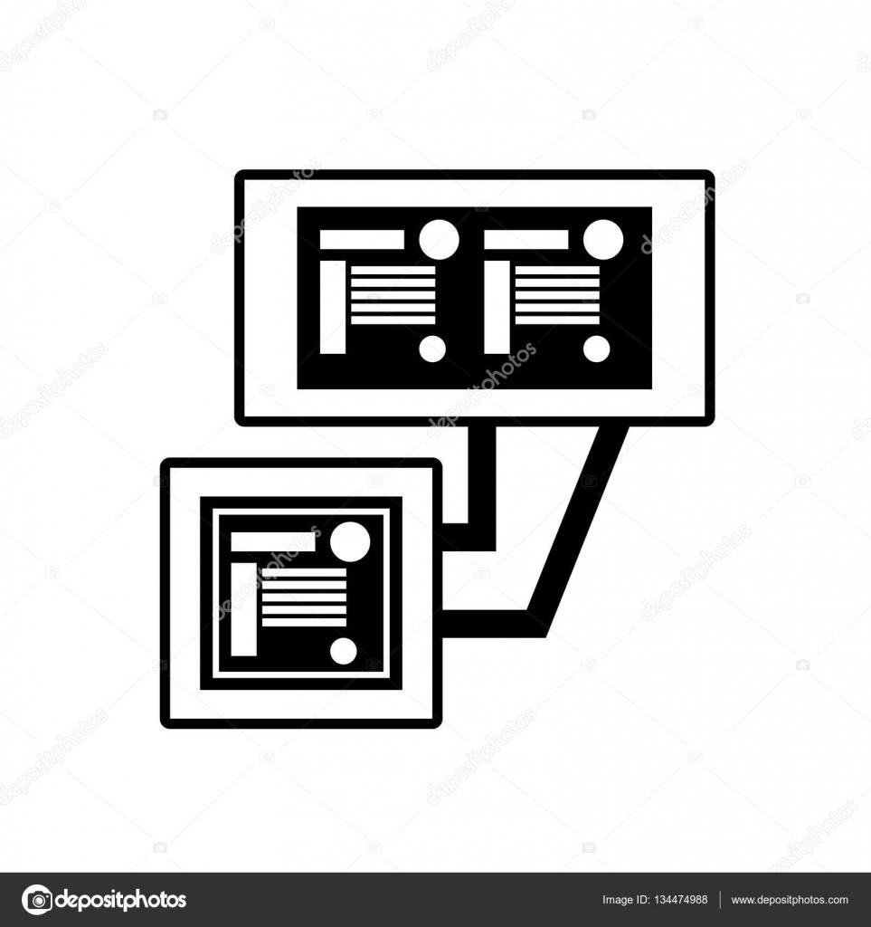 Circuito Lineal : Circuito sistema técnico pc lineal u vector de stock djv