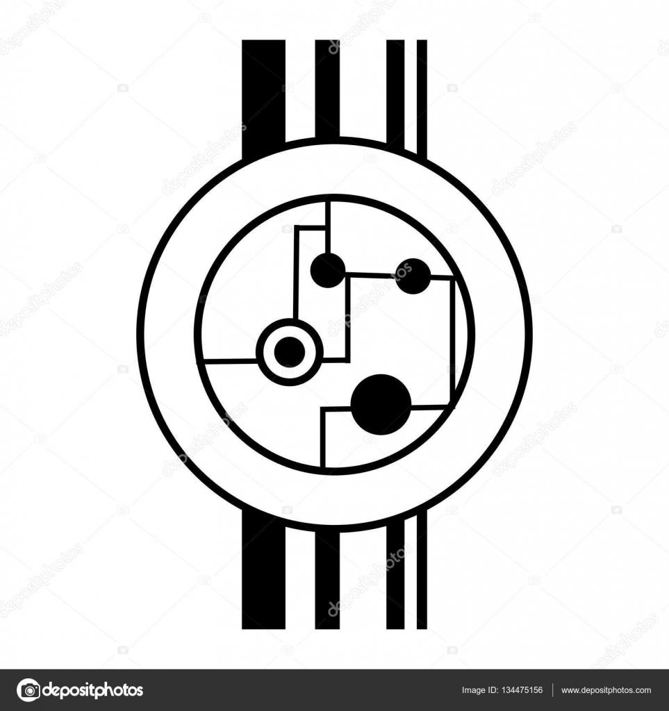 Circuito Lineal : Hardware de electrónica esfera de circuito lineal u vector de