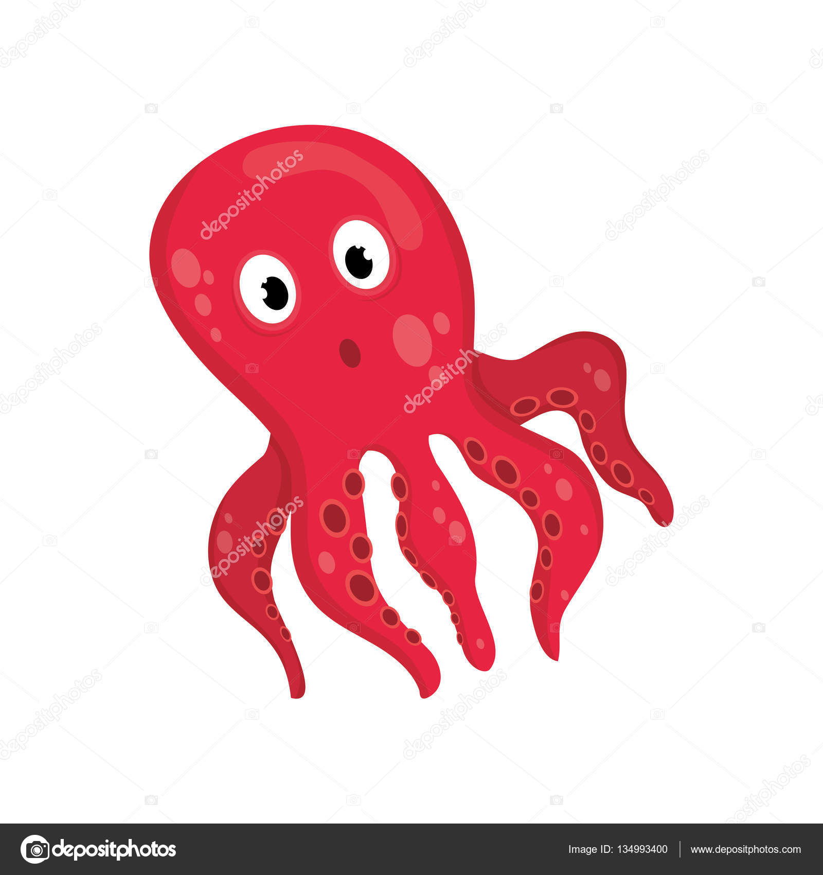 dibujos animados de pulpo de mar vector de stock  u00a9 djv octopus vector art octopus vector art