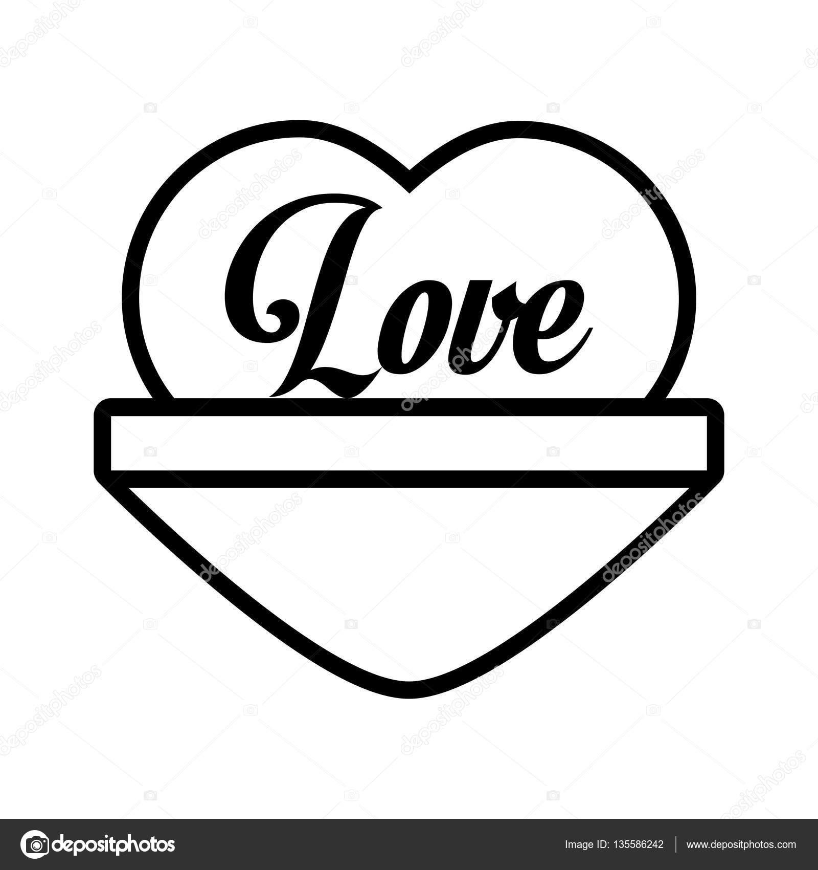 Love heart message outline stock vector djv 135586242 love heart message outline stock vector biocorpaavc
