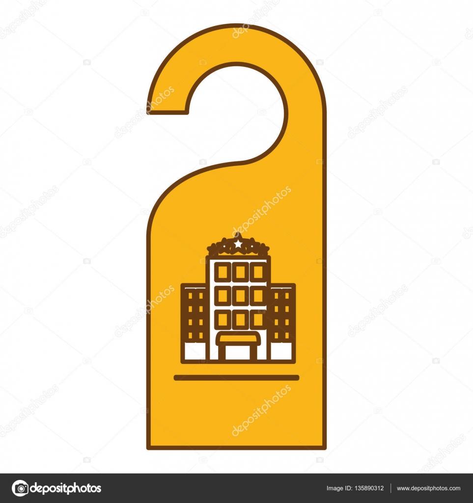 Tür-Aufhänger-Symbol — Stockvektor © djv #135890312
