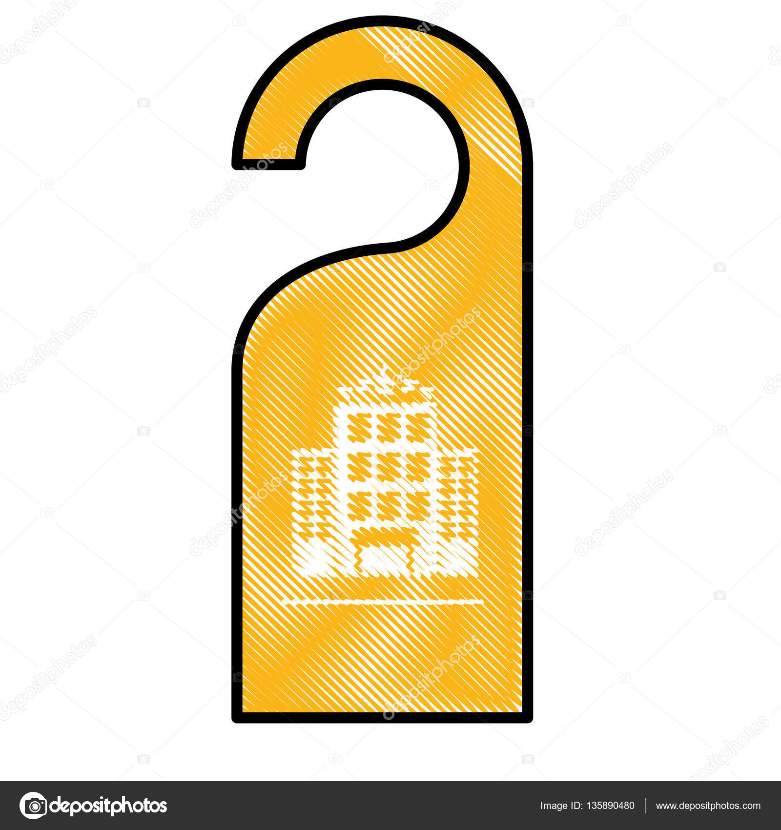 Tür-Aufhänger-Symbol — Stockvektor © djv #135890480