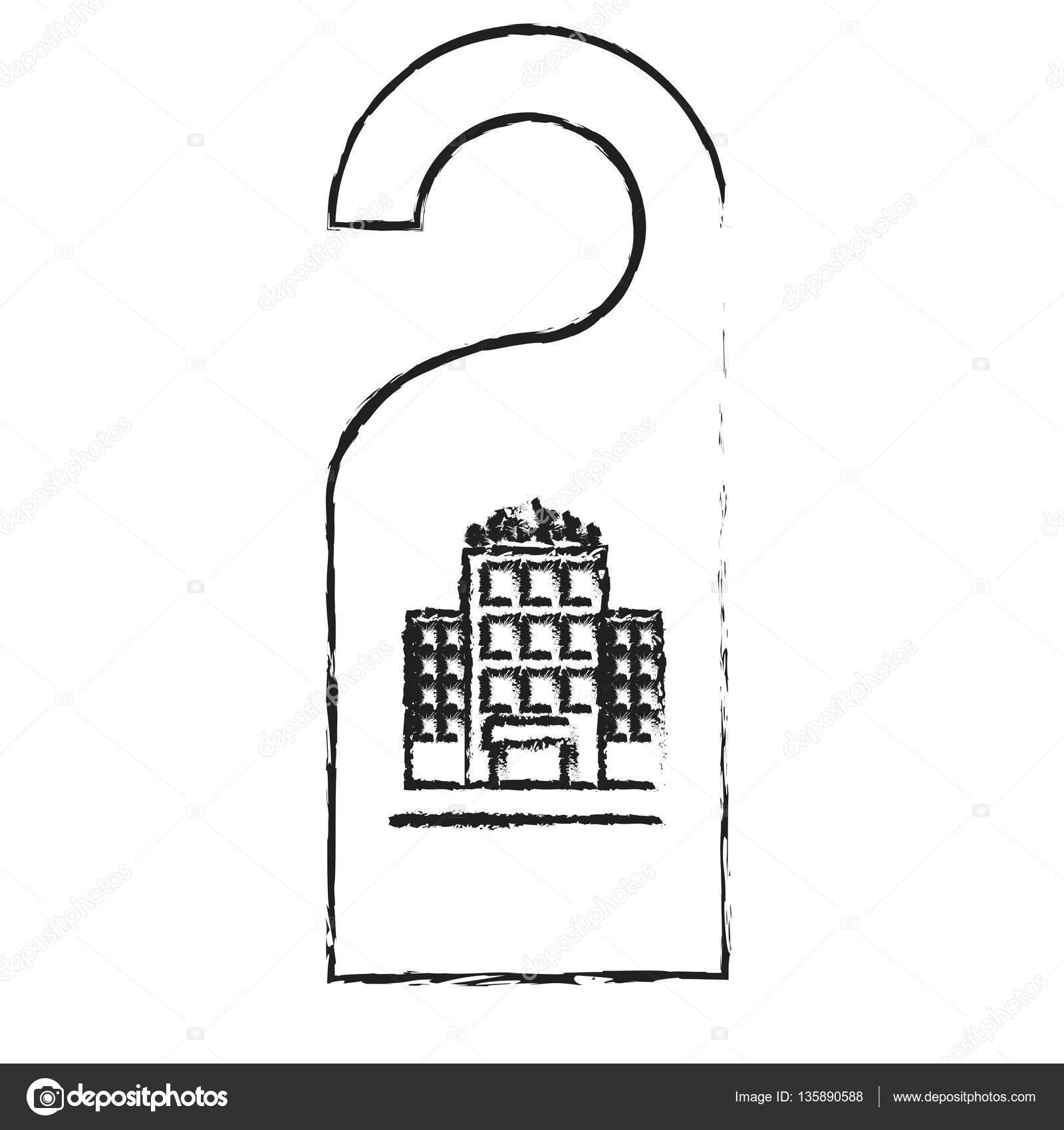 Tür-Aufhänger-Symbol — Stockvektor © djv #135890588