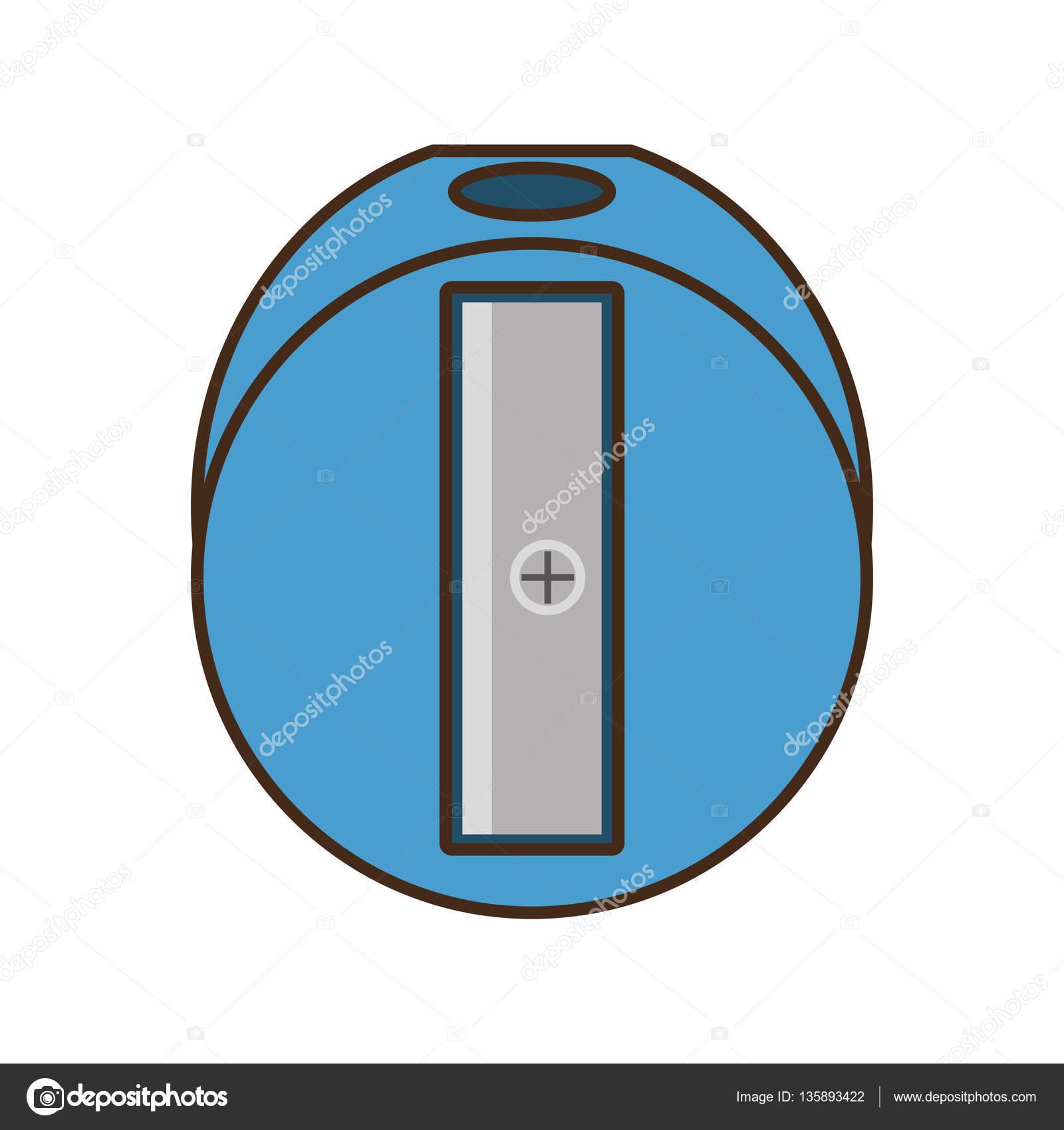 ritning blå pennvässare pennverktyget skola — Stock Vektor © djv ... d04a4a286864a