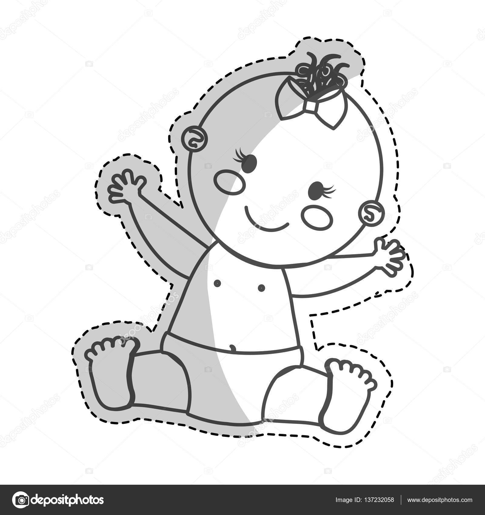 glückliches Baby Symbolbild — Stockvektor © djv #137232058