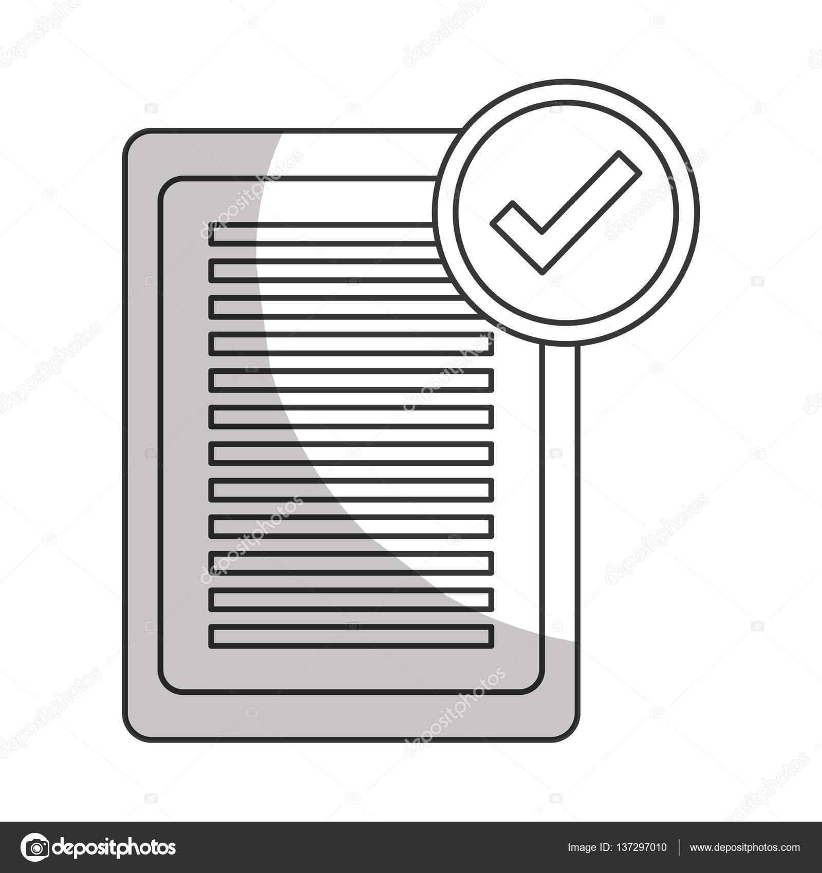 lista de verificación con marca de verificación — Archivo Imágenes ...