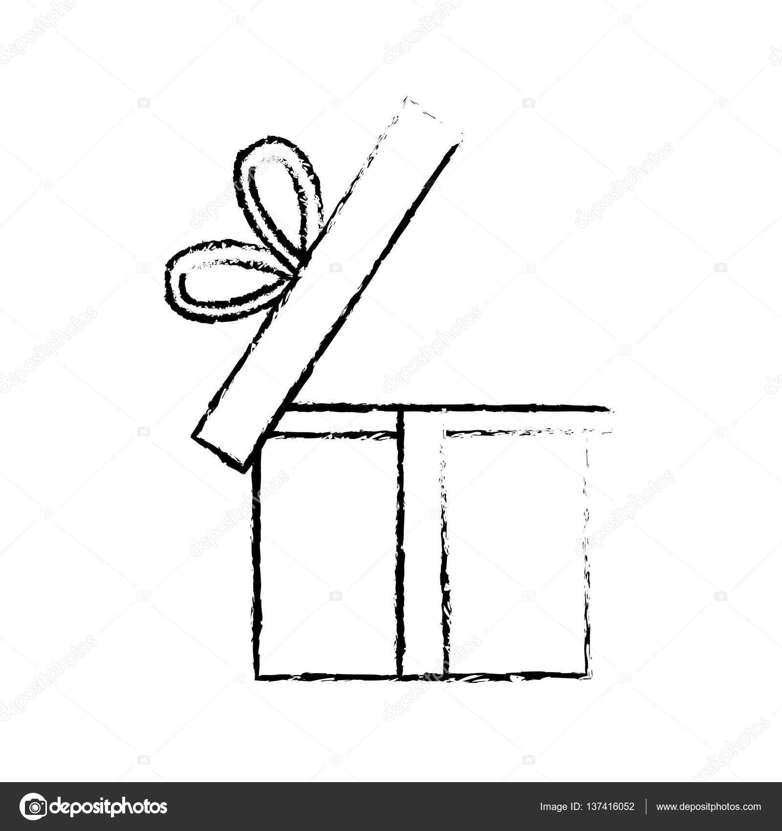 Dibujo De Caja De Regalo Abierta Dibujo De Partido De Regalo