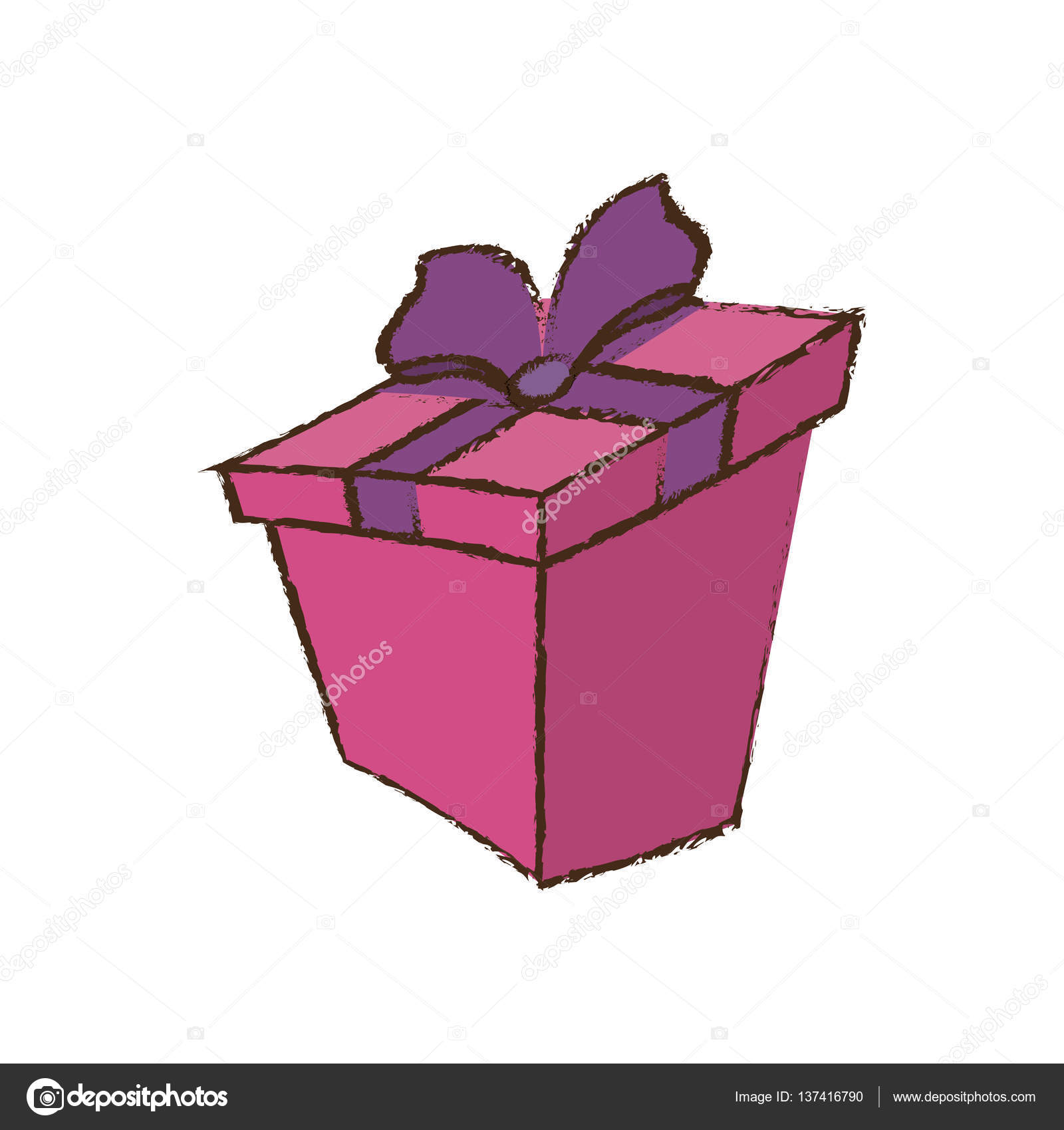 Color gift box ribbon sketch stock vector djv 137416790 color gift box ribbon sketch vector illustration eps 10 vector by djv negle Gallery