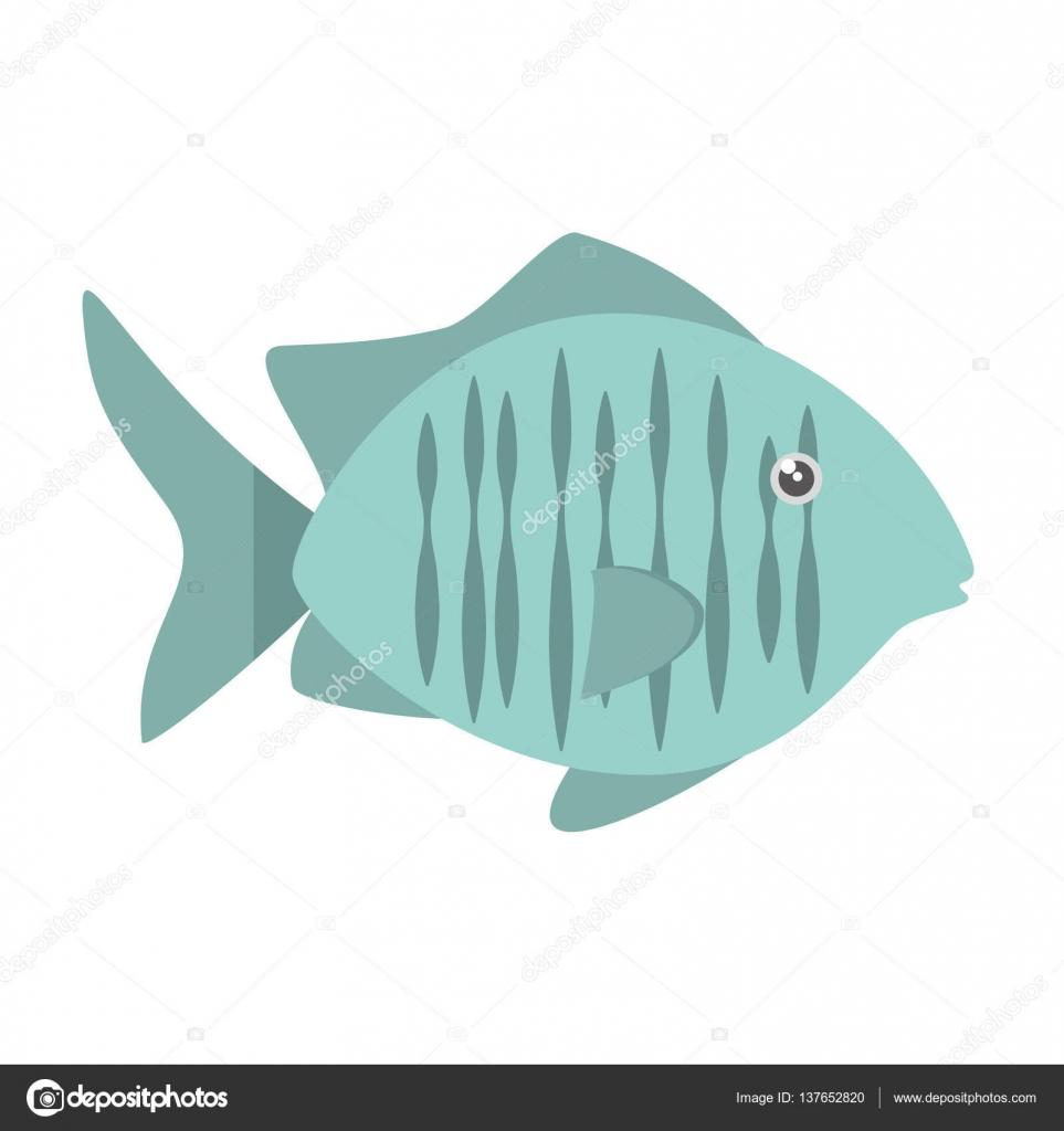 gráfico de hábitat de mar peces tropicales — Archivo Imágenes ...