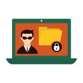 Internet security související ikony obrázek