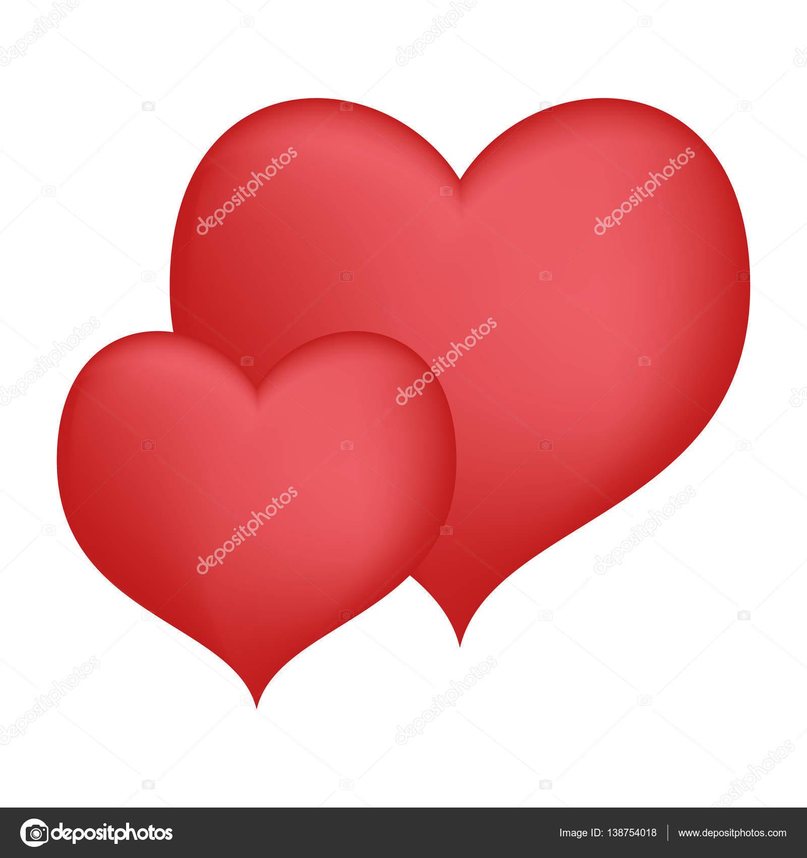 117d856b26cd7c Corações amor arte decorativa design de dia dos namorados — Vetores ...