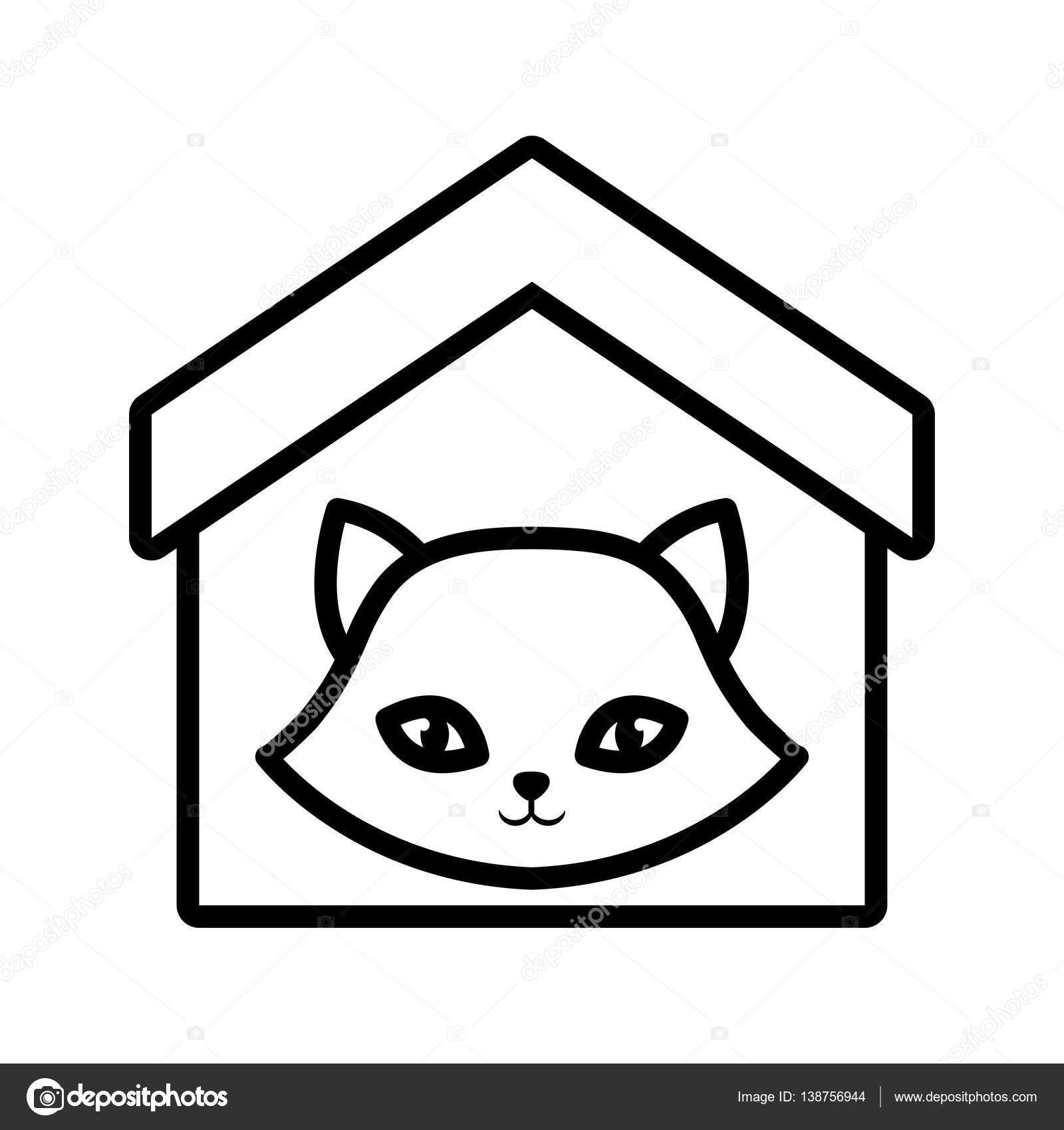 Katze nase lustige tier haus haustier bersicht for Haus umrisse
