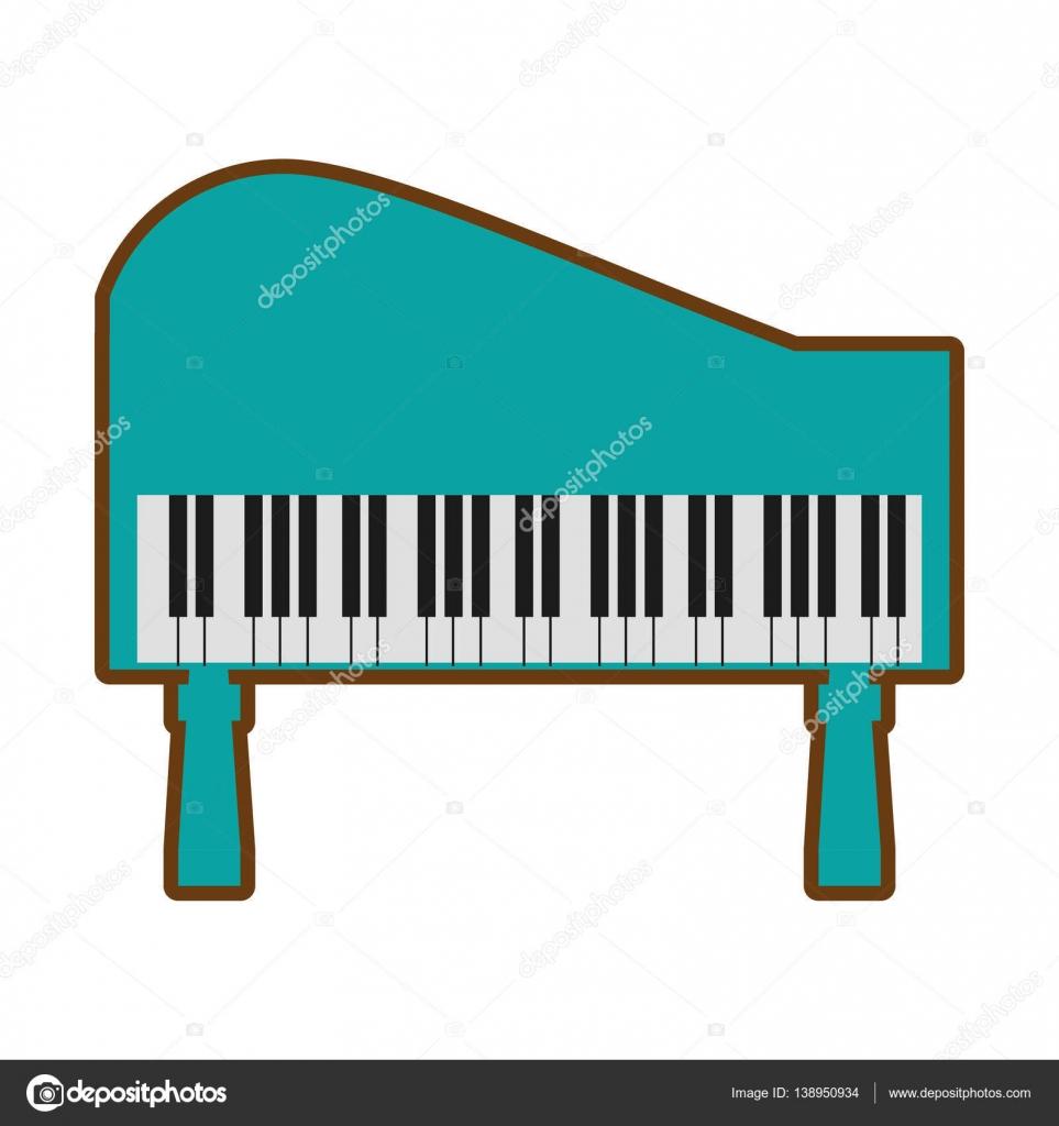Dibujos Piano Dibujo Teclado Dibujos Animados De Música