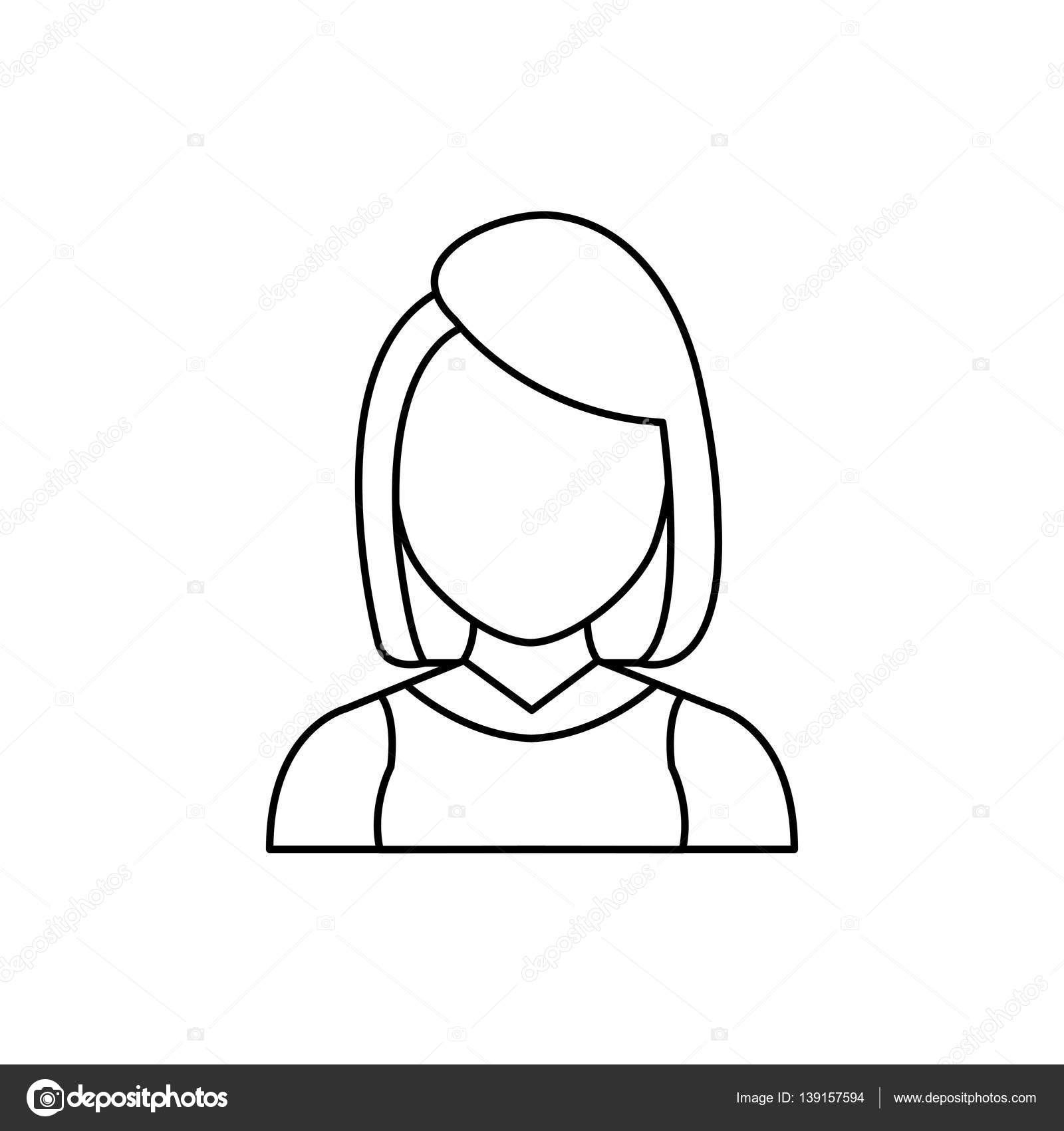 Profil Sans Visage Femme Image Vectorielle Djv 139157594