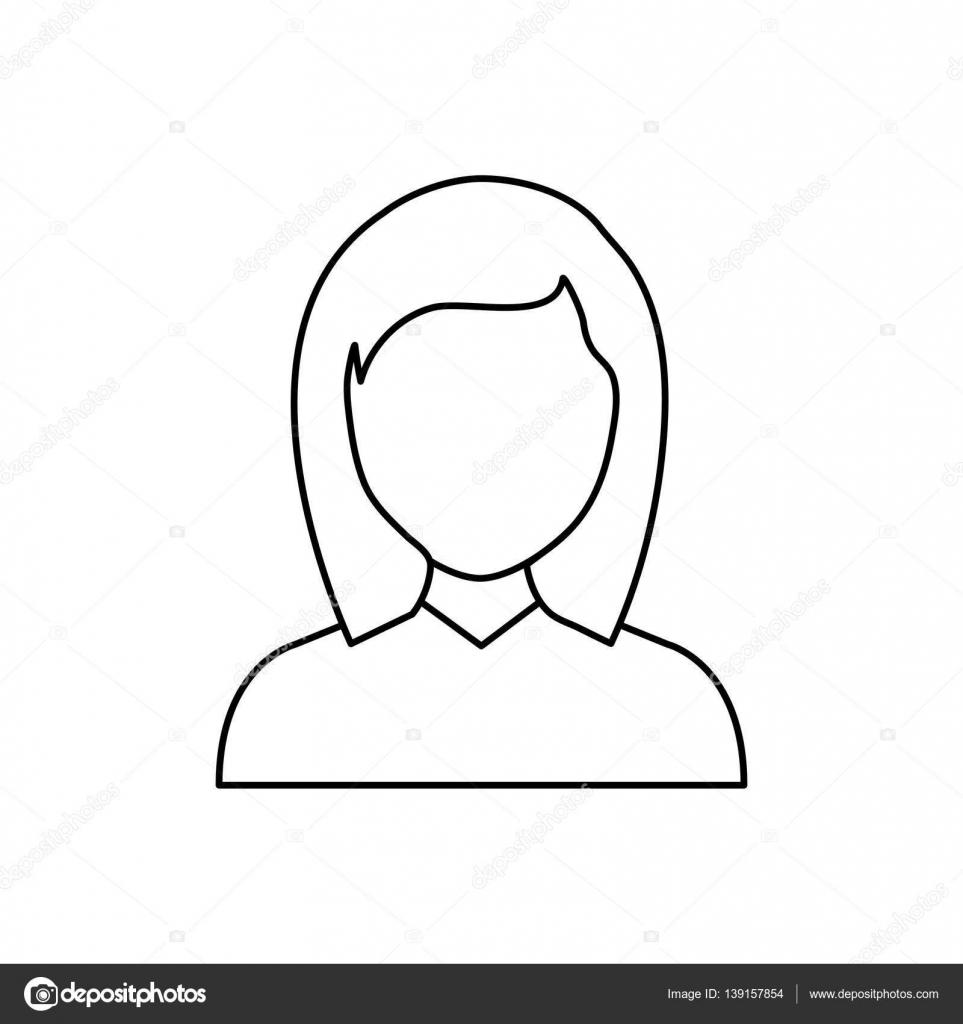 Profil Sans Visage Femme Image Vectorielle Djv 139157854