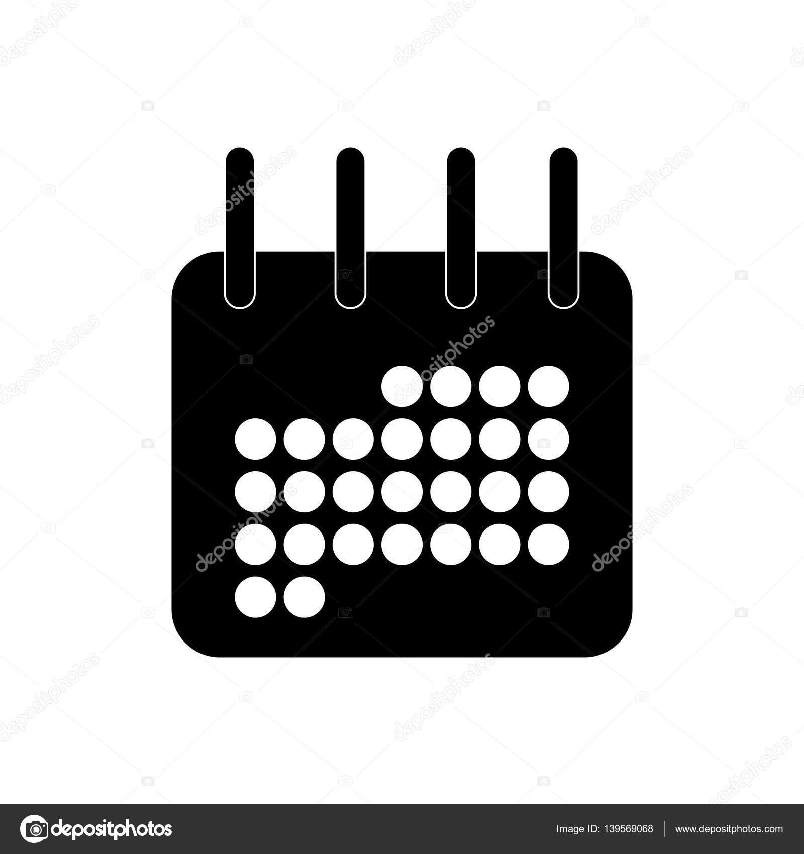 Simbolo De Calendario.Immagine Di Icona Del Calendario Di Simbolo Nero