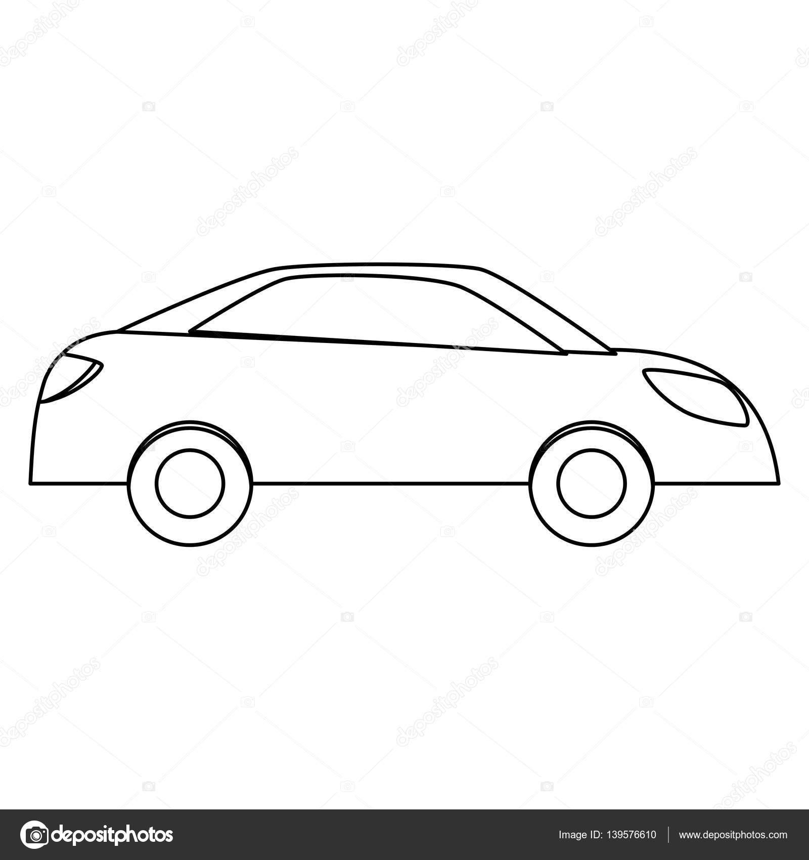 einfaches Auto Sideview Symbolbild — Stockvektor © djv #139576610