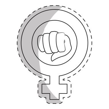 contour symbol to fight for rights of women