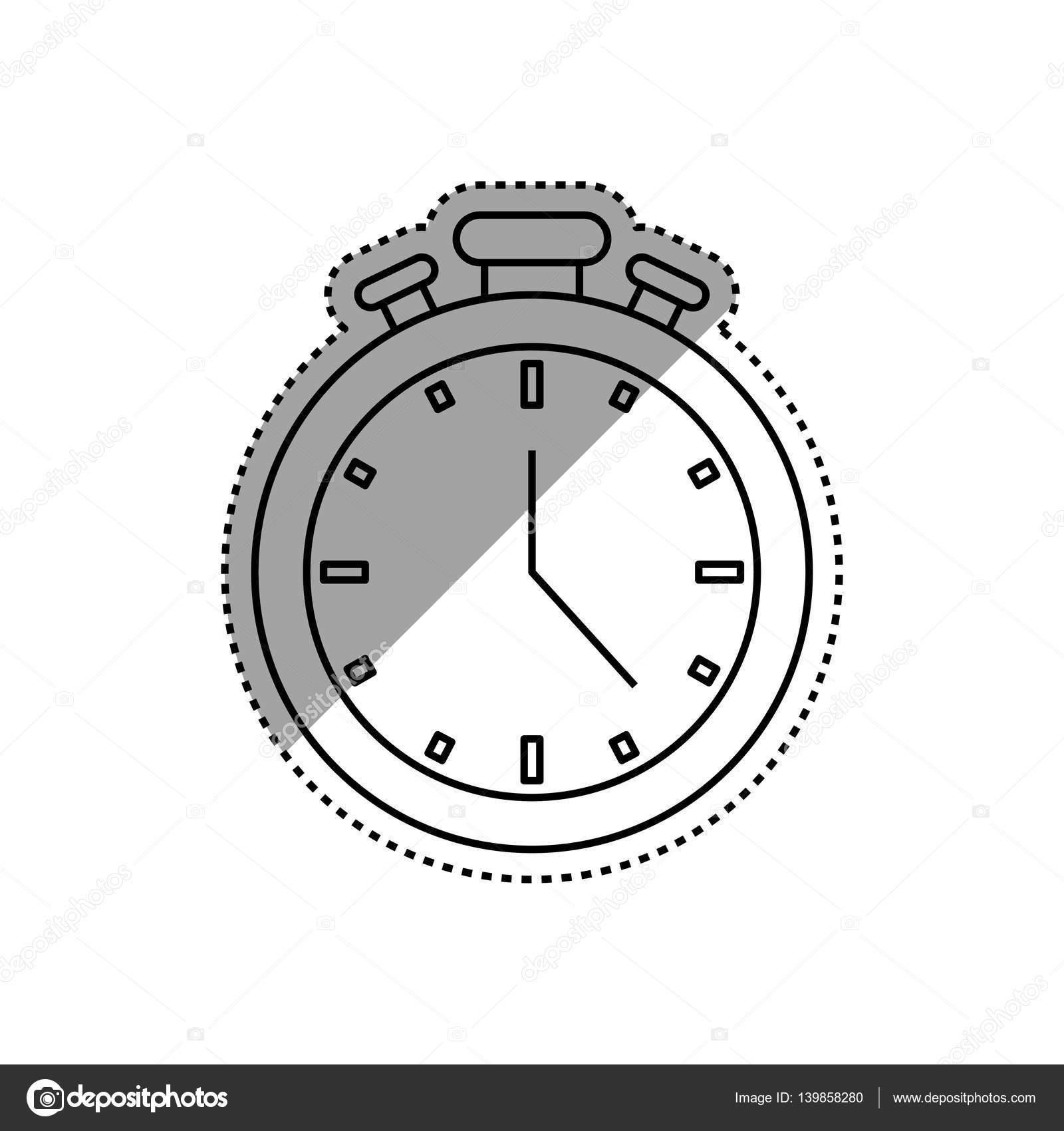 Isolierte Zeitschaltuhr — Stockvektor © djv #139858280