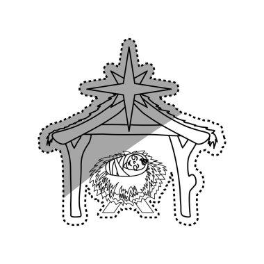 Christmas manger concept