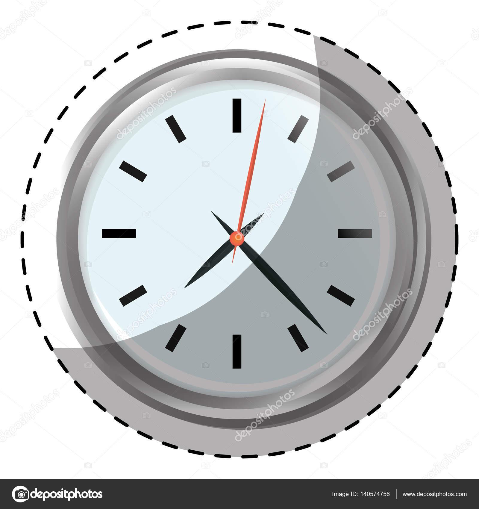 Horloge Murale Design Argent