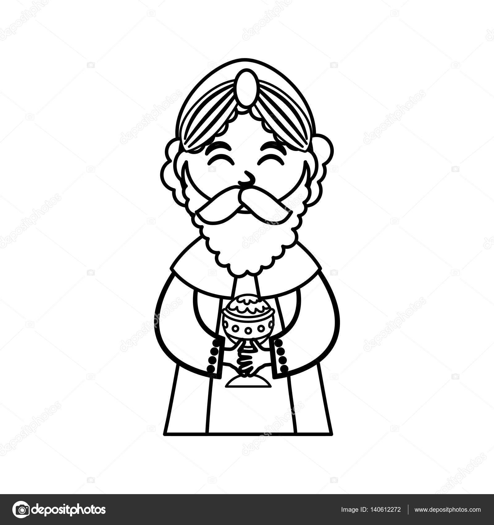 Historieta de tres hombre sabio — Archivo Imágenes Vectoriales © djv ...