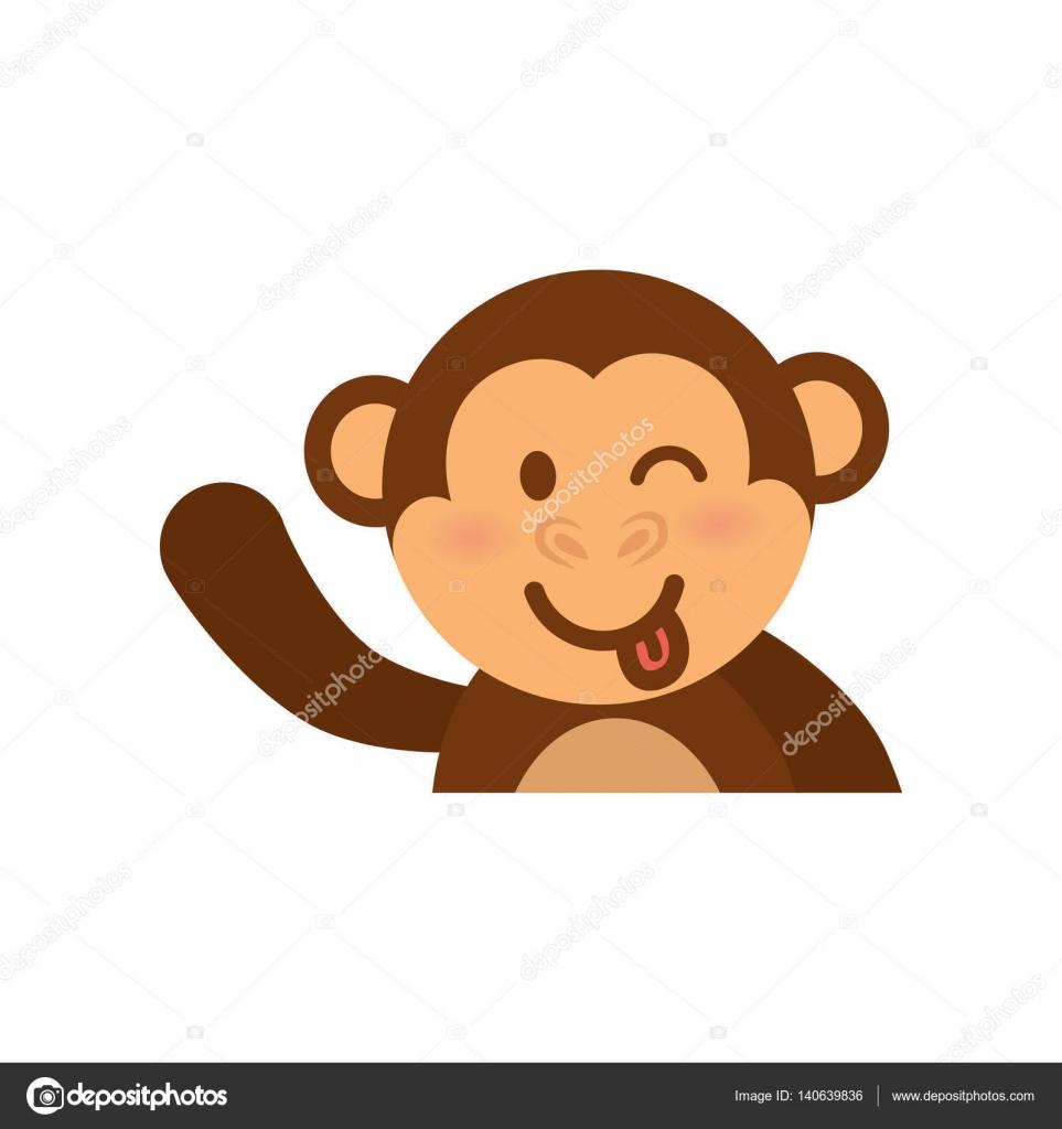 かわいい猿の漫画 ストックベクター Djv 140639836
