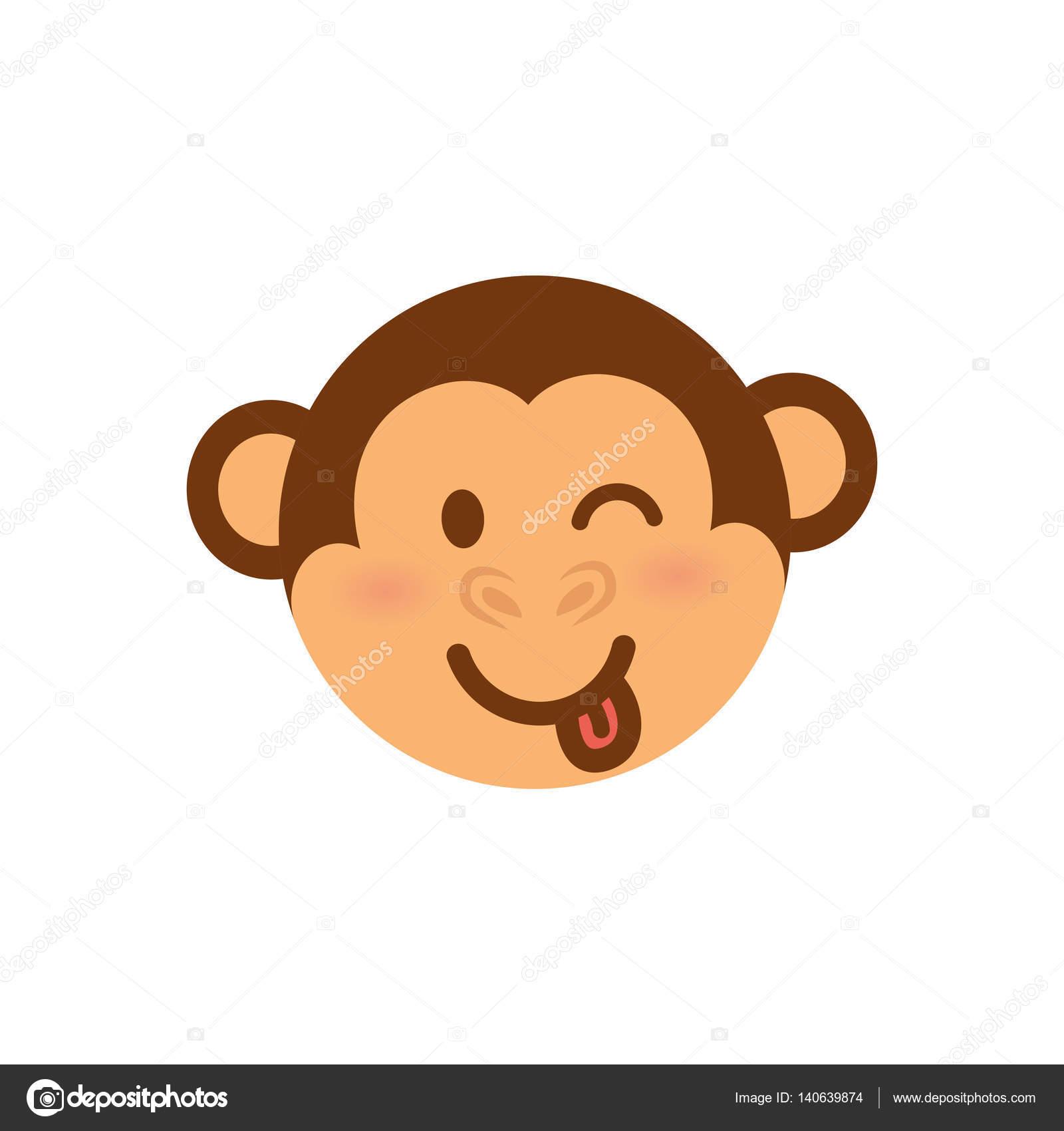 Cartone animato carino scimmia — vettoriali stock djv