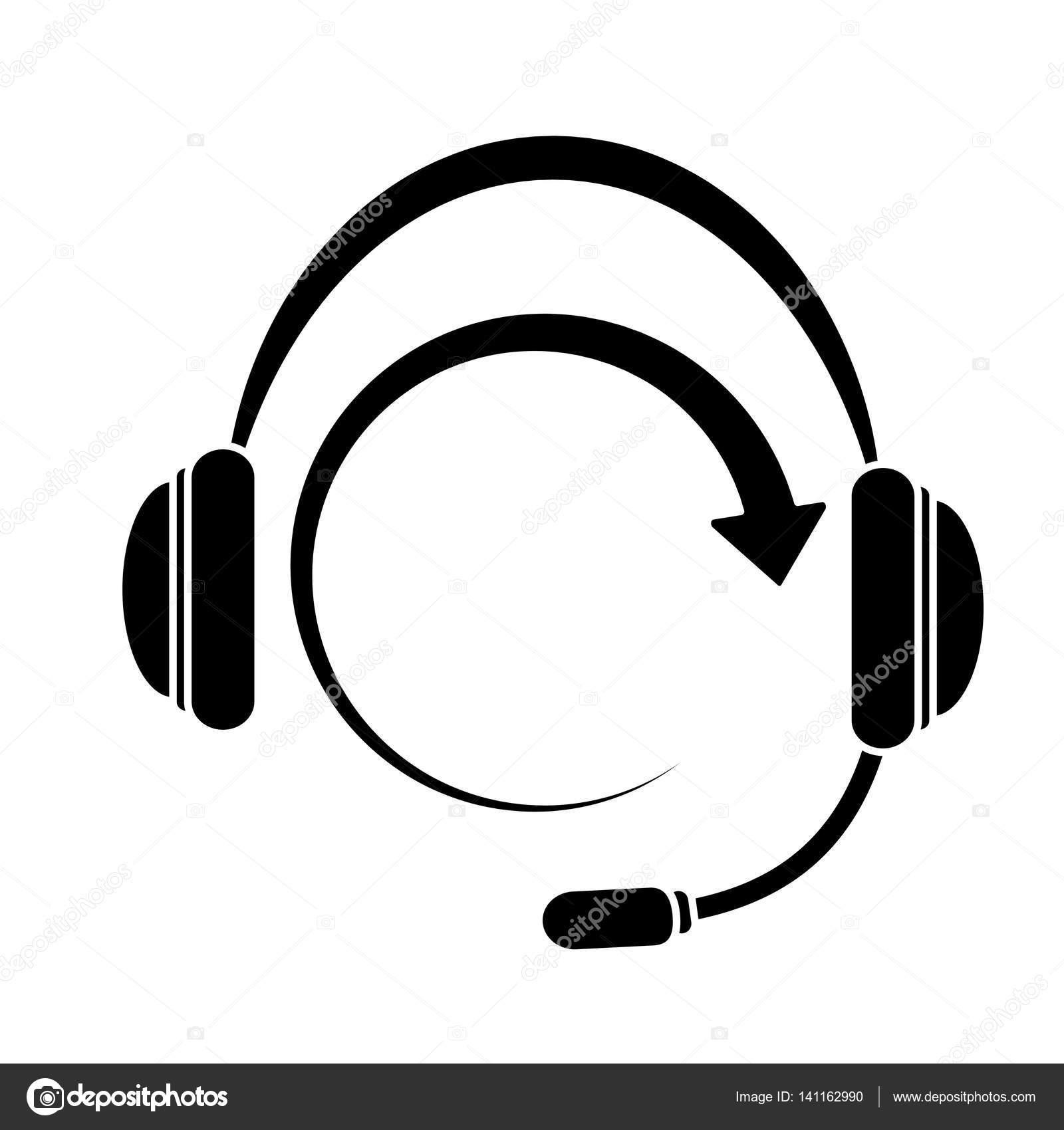 Kopfhörer-Kopfhörer-Symbolbild — Stockvektor © djv #141162990